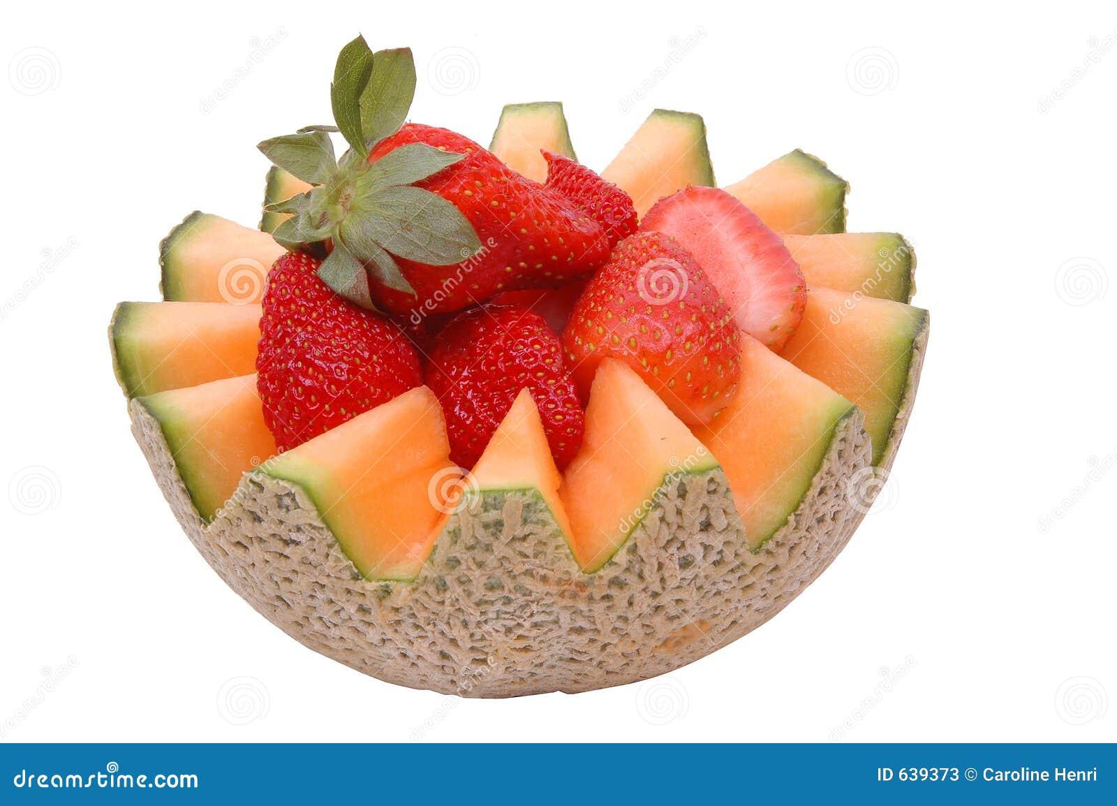 Download 2 клубники канталупы стоковое изображение. изображение насчитывающей ягода - 639373