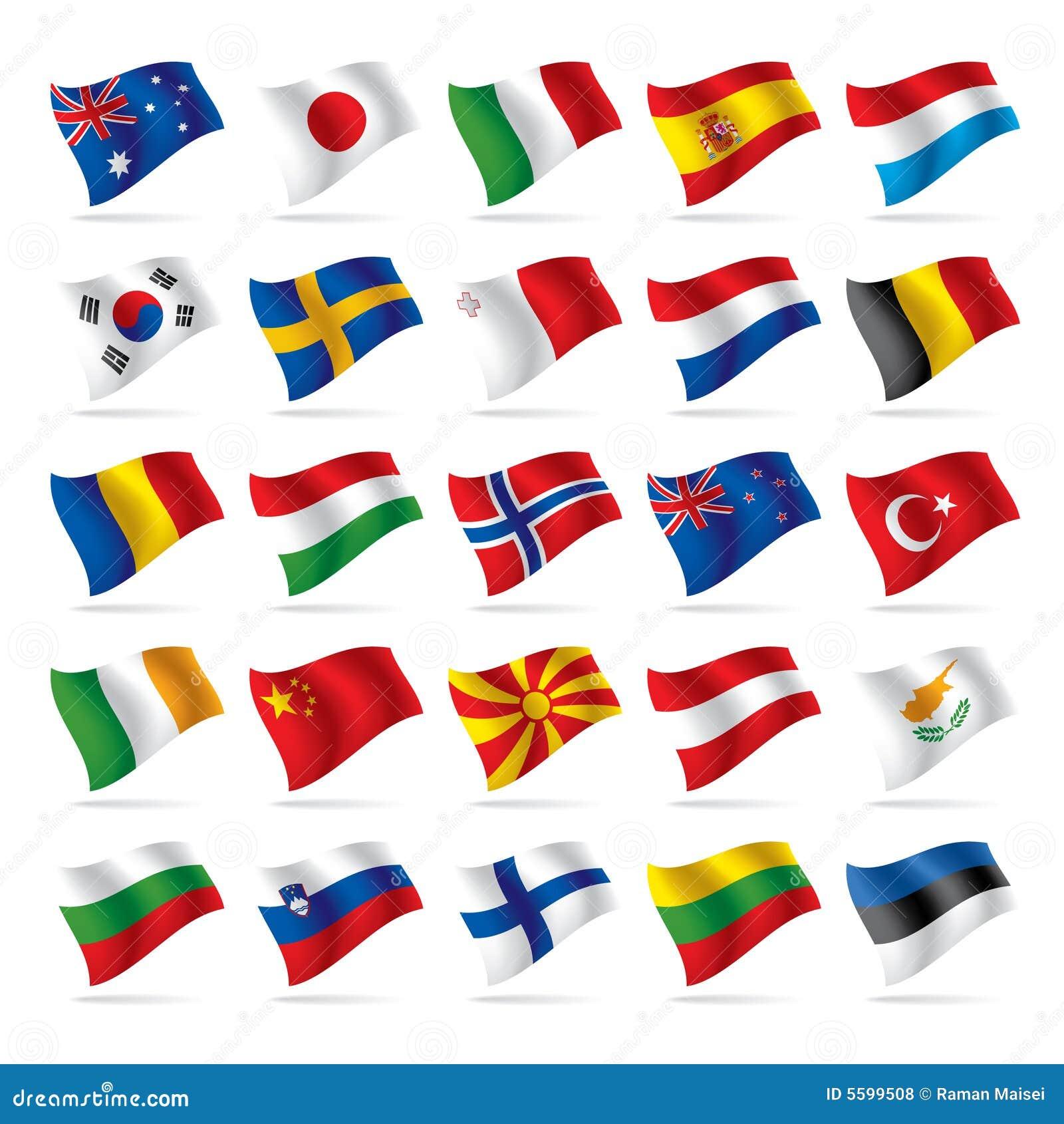 2 флага установили мир