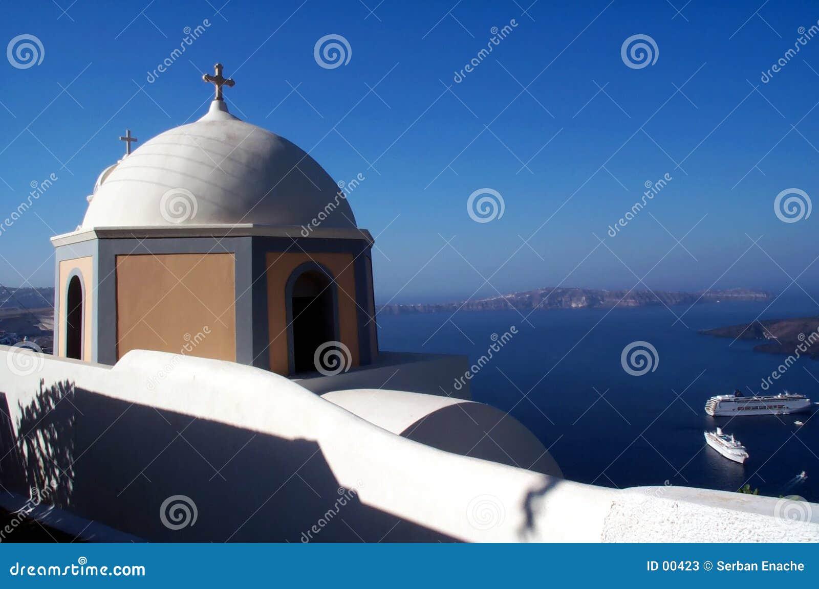 2个教会santorini