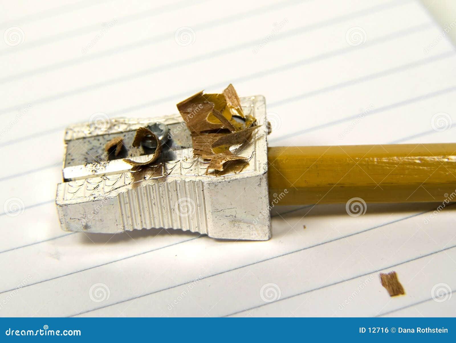 2铅笔削尖了