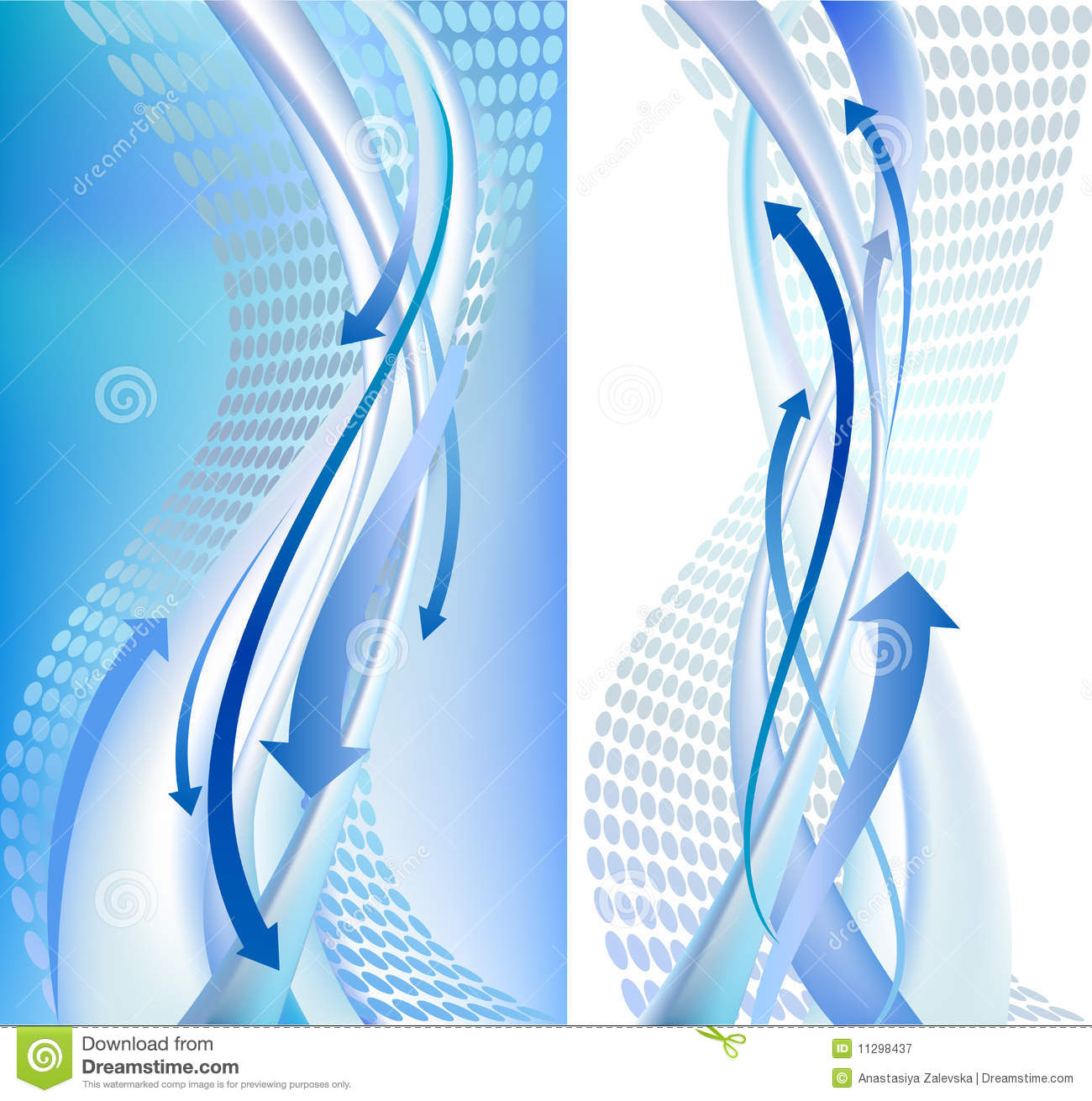 2 Abstract backgrounds with arrows