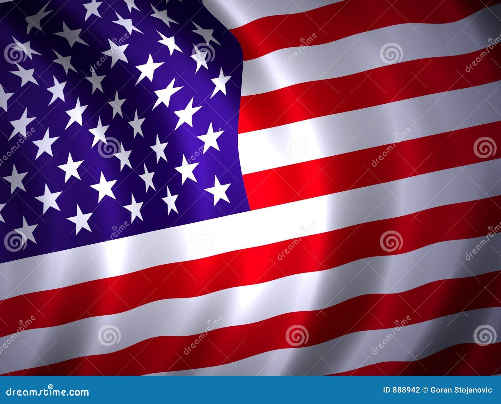 2 amrican flagę