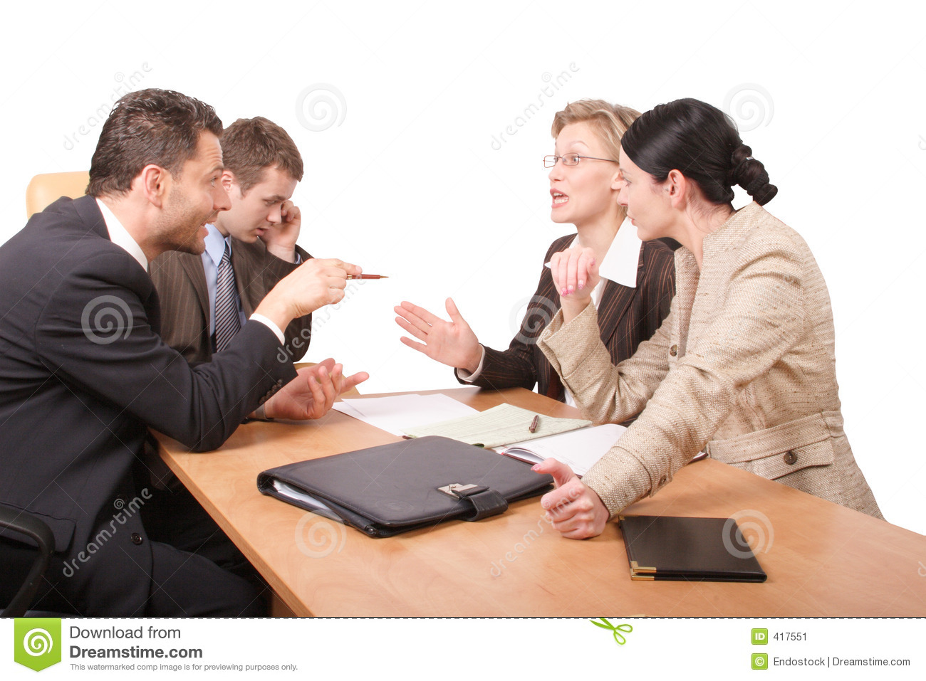2 business isolated men negotiations women