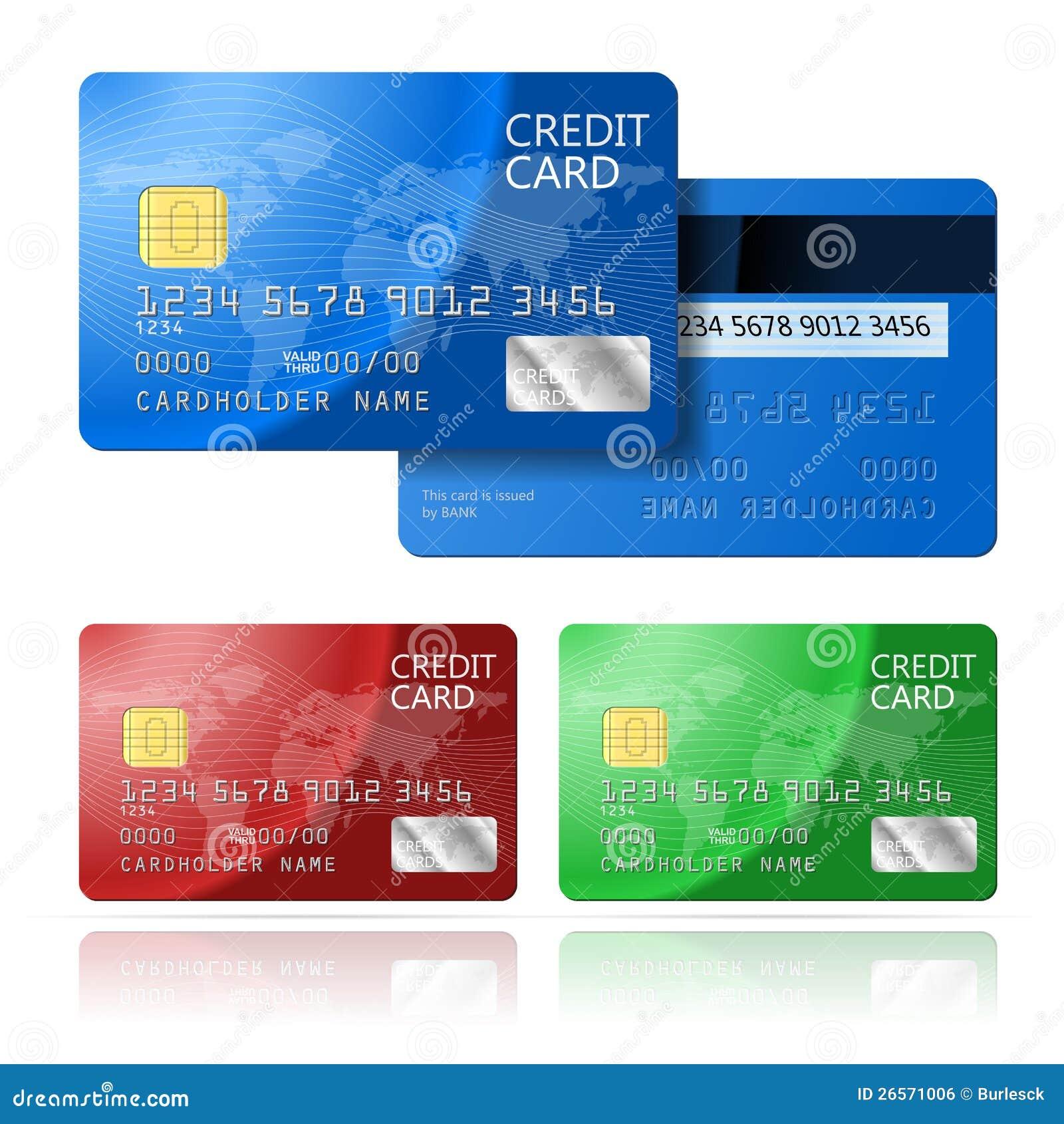 2 Caras De La Tarjeta De Crédito Imagen De Archivo Libre