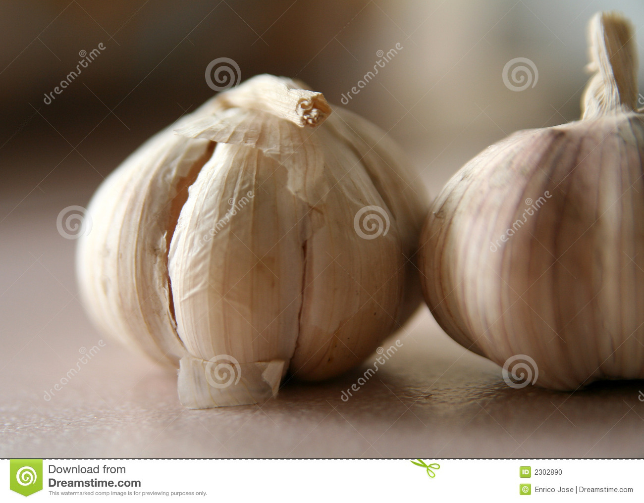 2 cloves of garlic stock photo. Image of moody, close ...