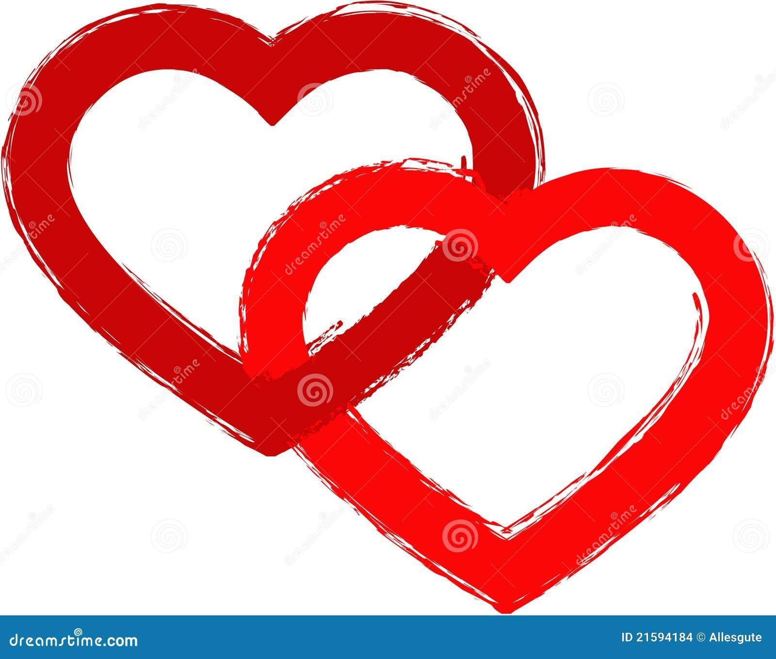2 Corazones 1 Amor Ilustración Del Vector Ilustración De