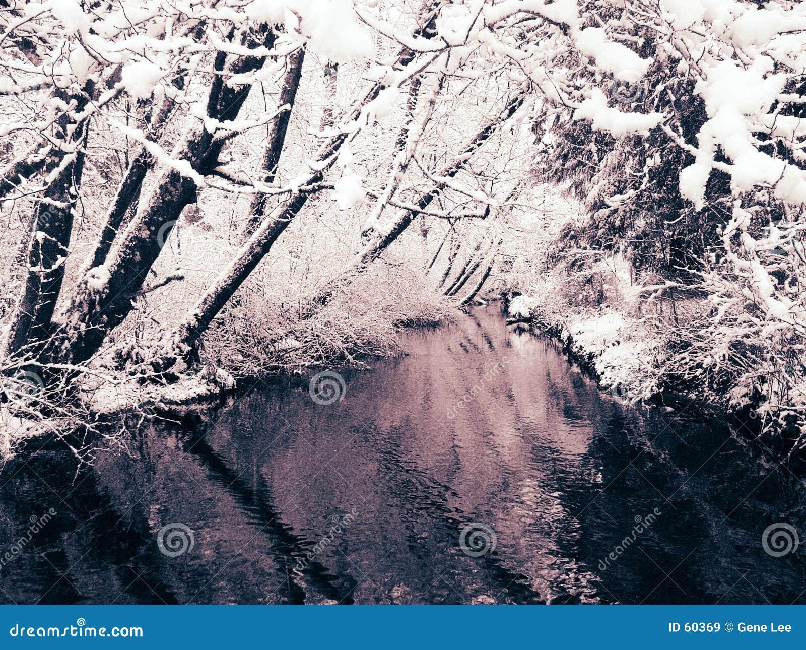 2 creek widok opadów śniegu
