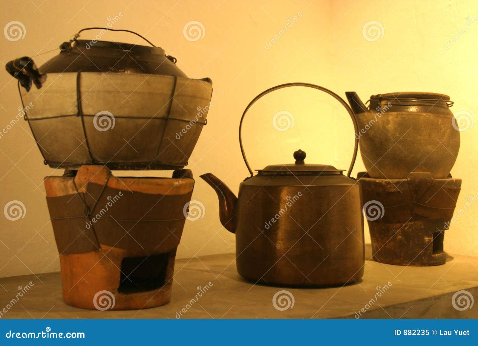 2 drzewa kettle kuchenkę garnku