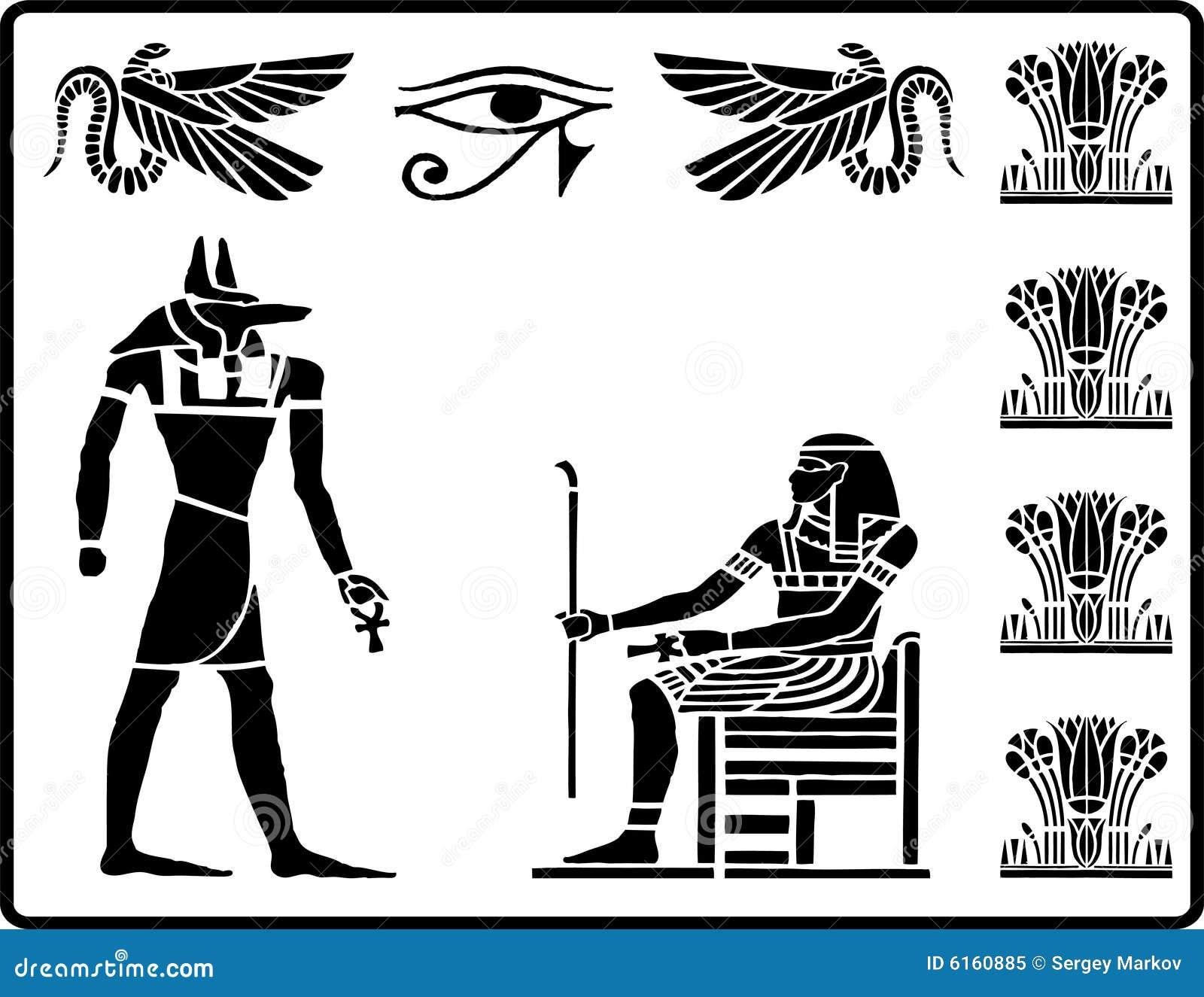 2 egyptiska hieroglyphics