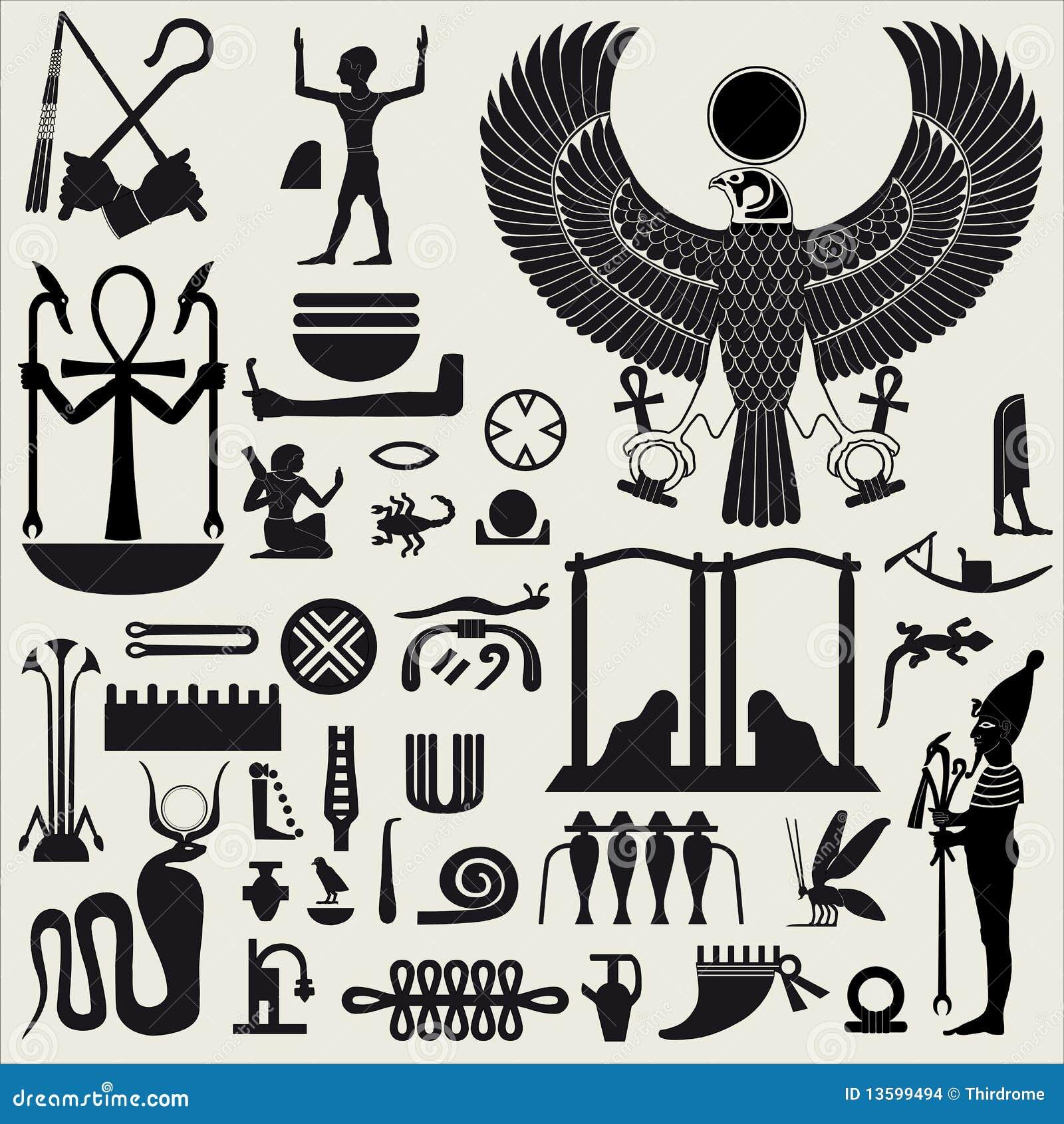 2 egyptiska teckensymboler