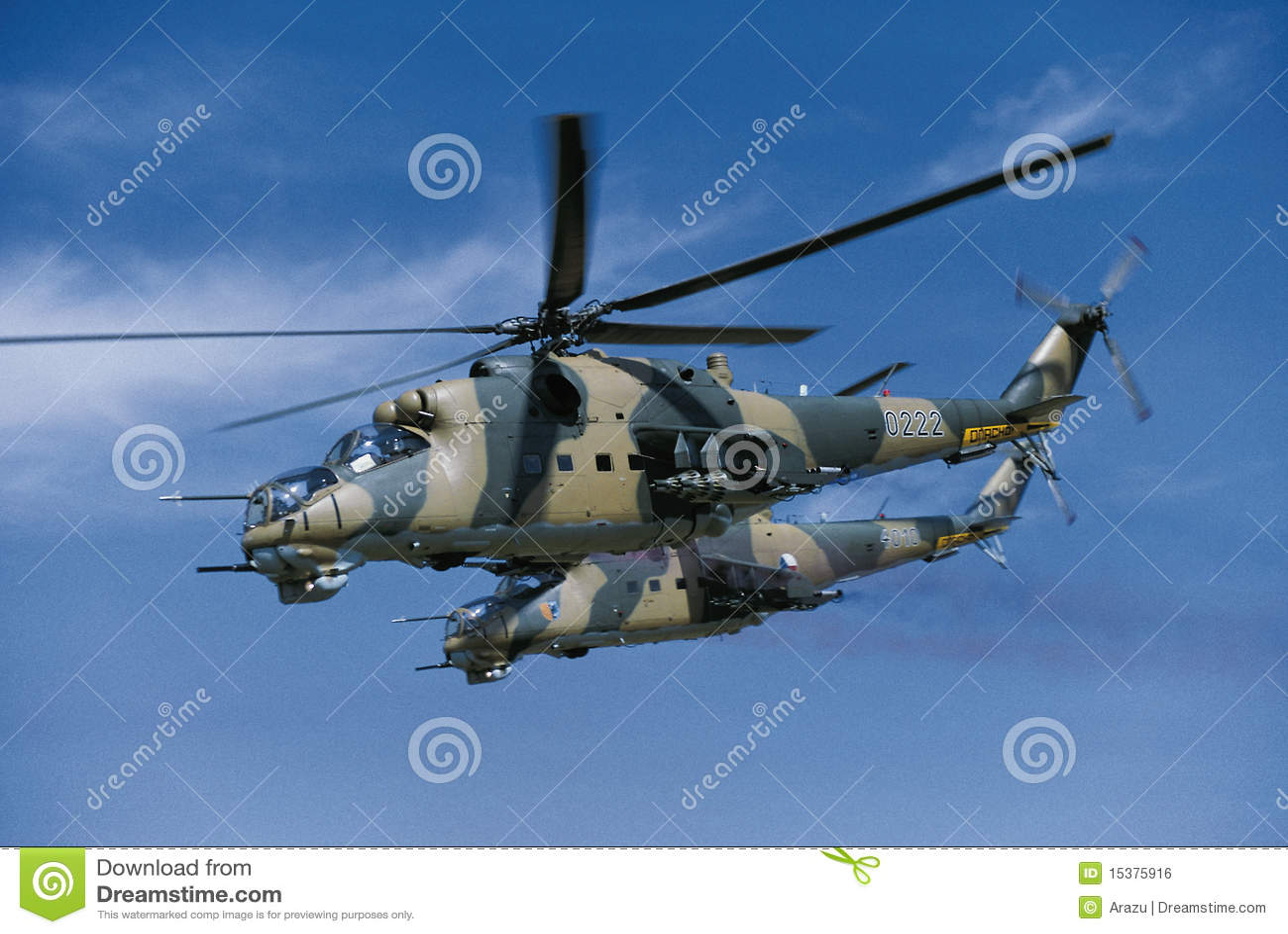 2 Hubschrauber Mil-mi-24