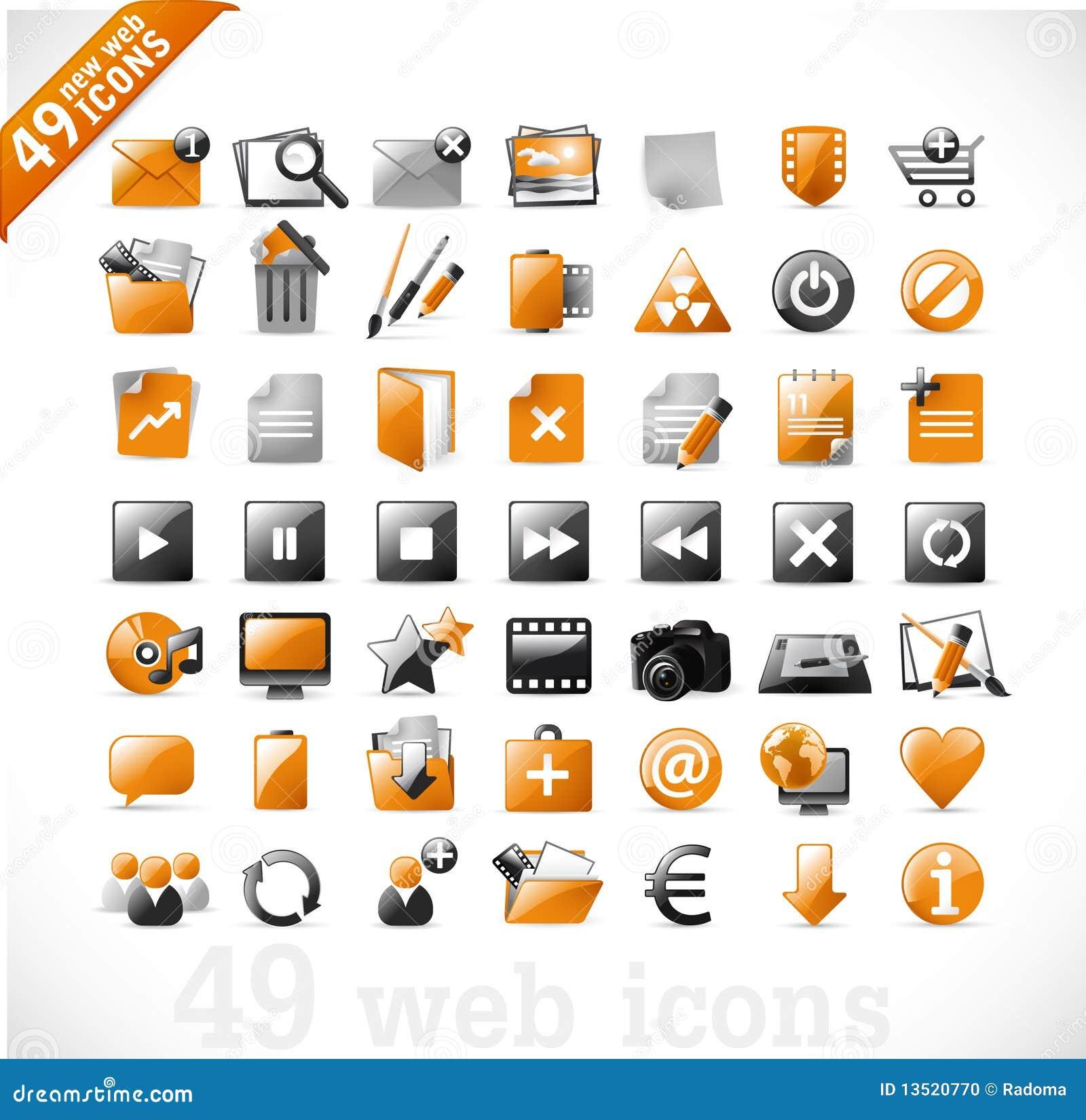 2 ikon mutimedia nowa pomarańczowa sieć