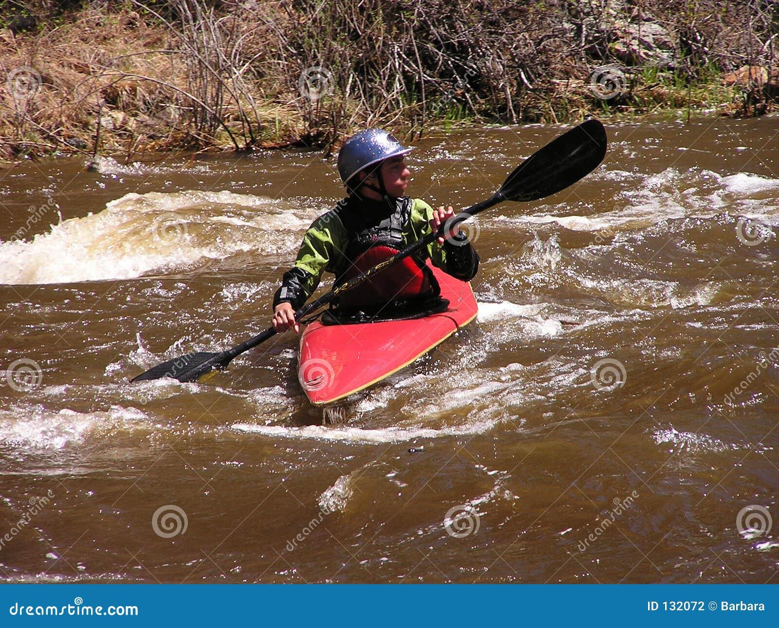 2 kayaker rzeki
