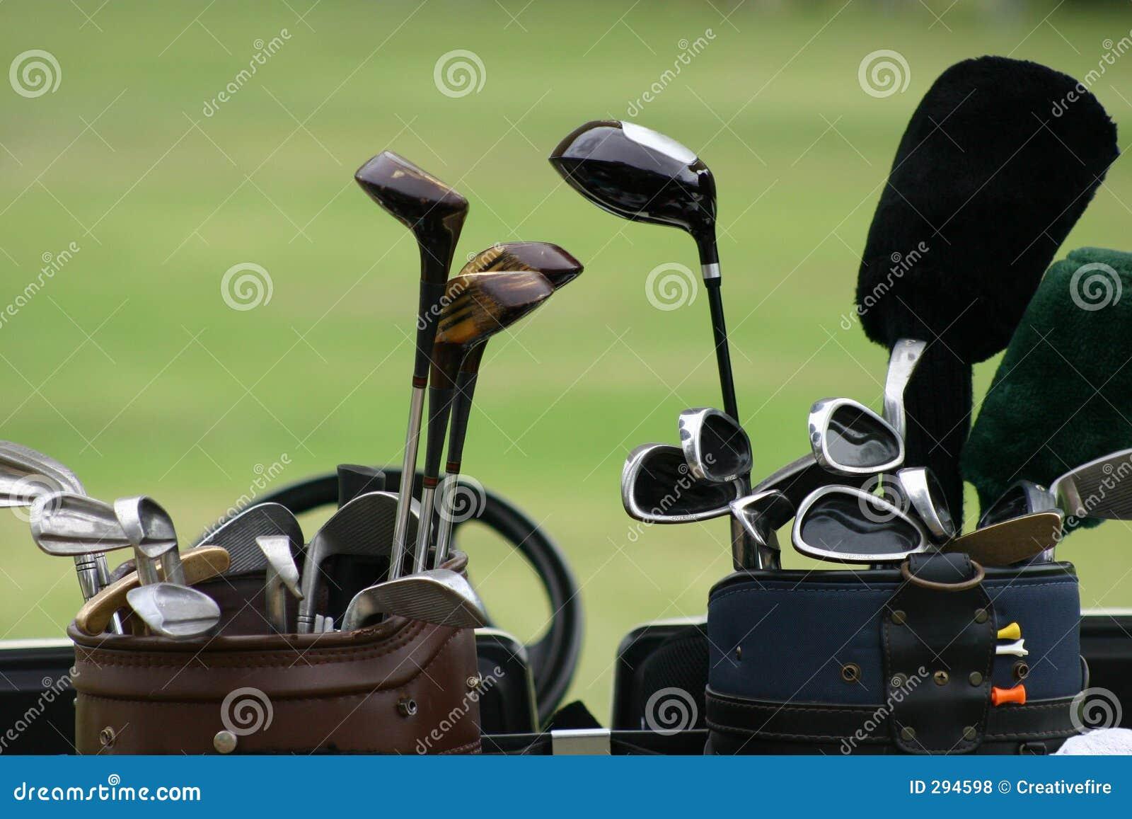 2 klubów w golfa