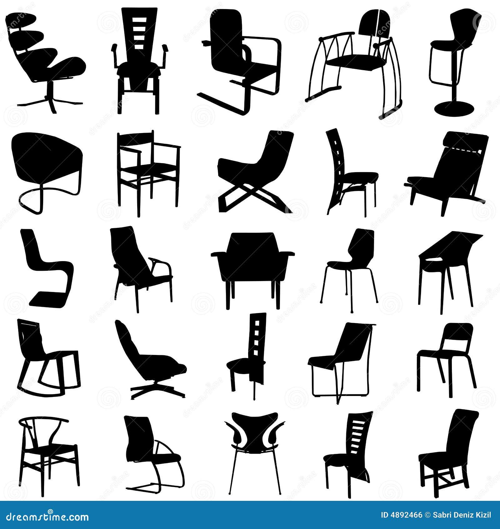 2 krzeseł nowoczesnego wektora