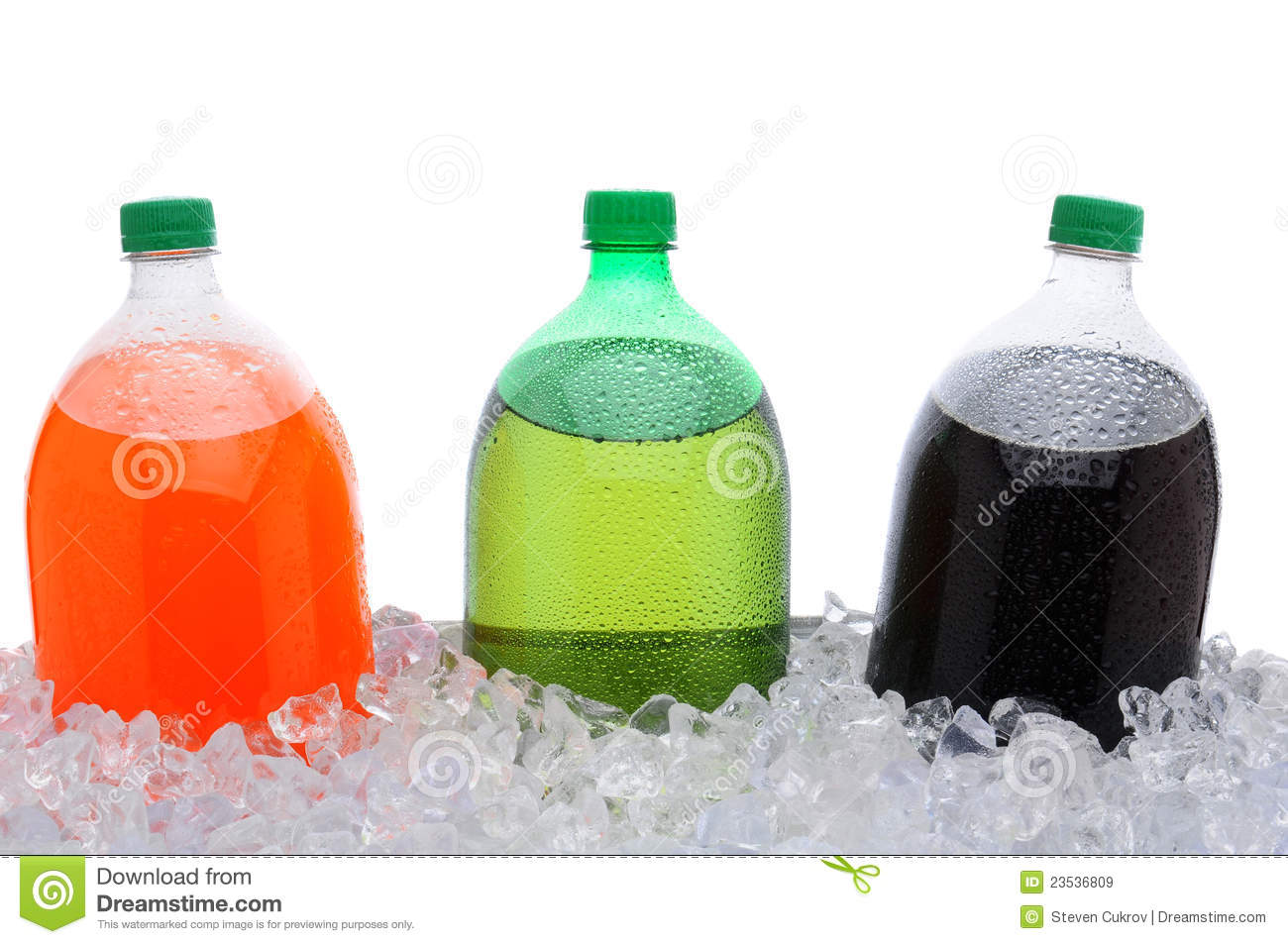 2 liter soda bottles in ice stock image image 23536809. Black Bedroom Furniture Sets. Home Design Ideas