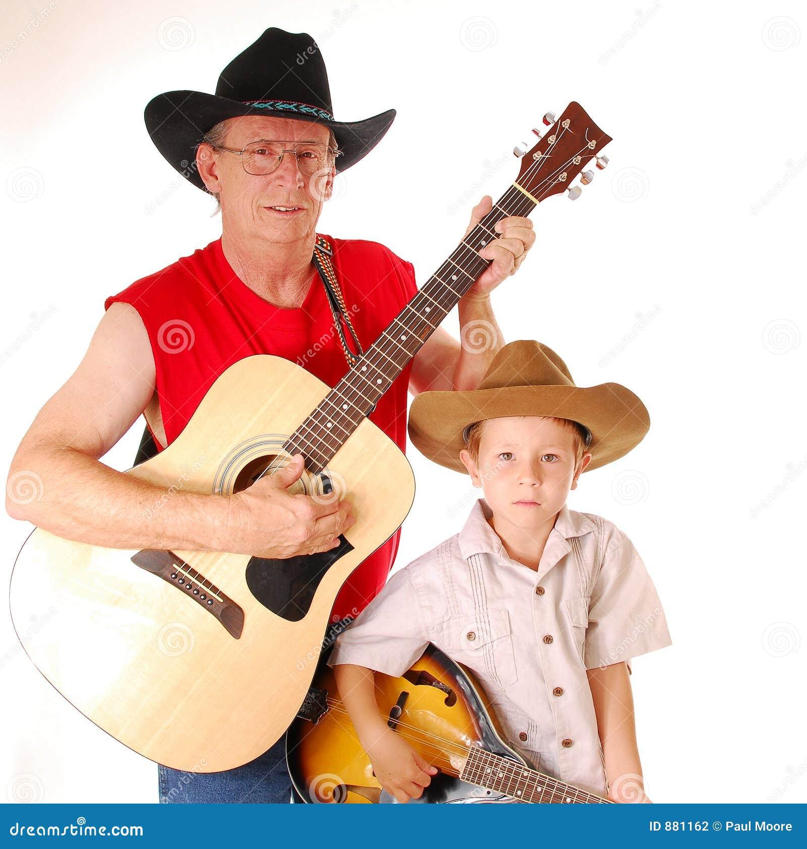 2 muzyków krajów stary razem