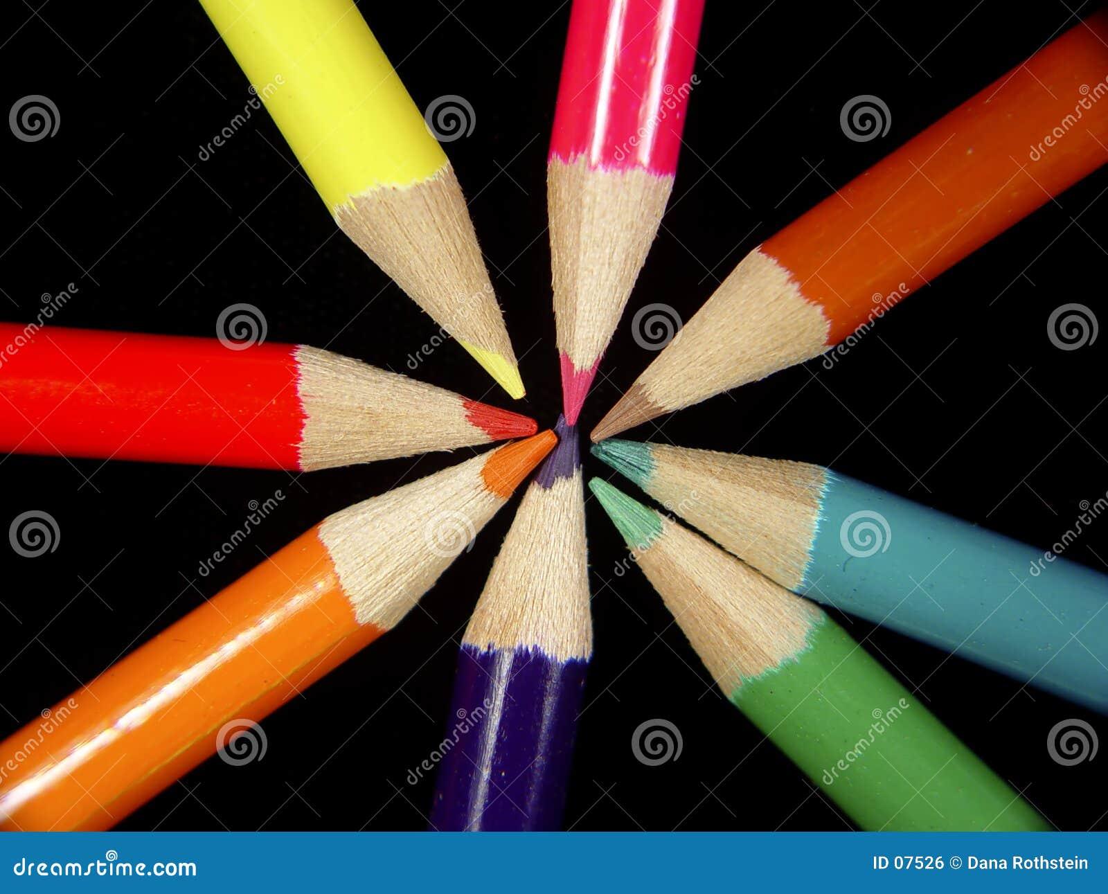 2 ołówka kolorowego
