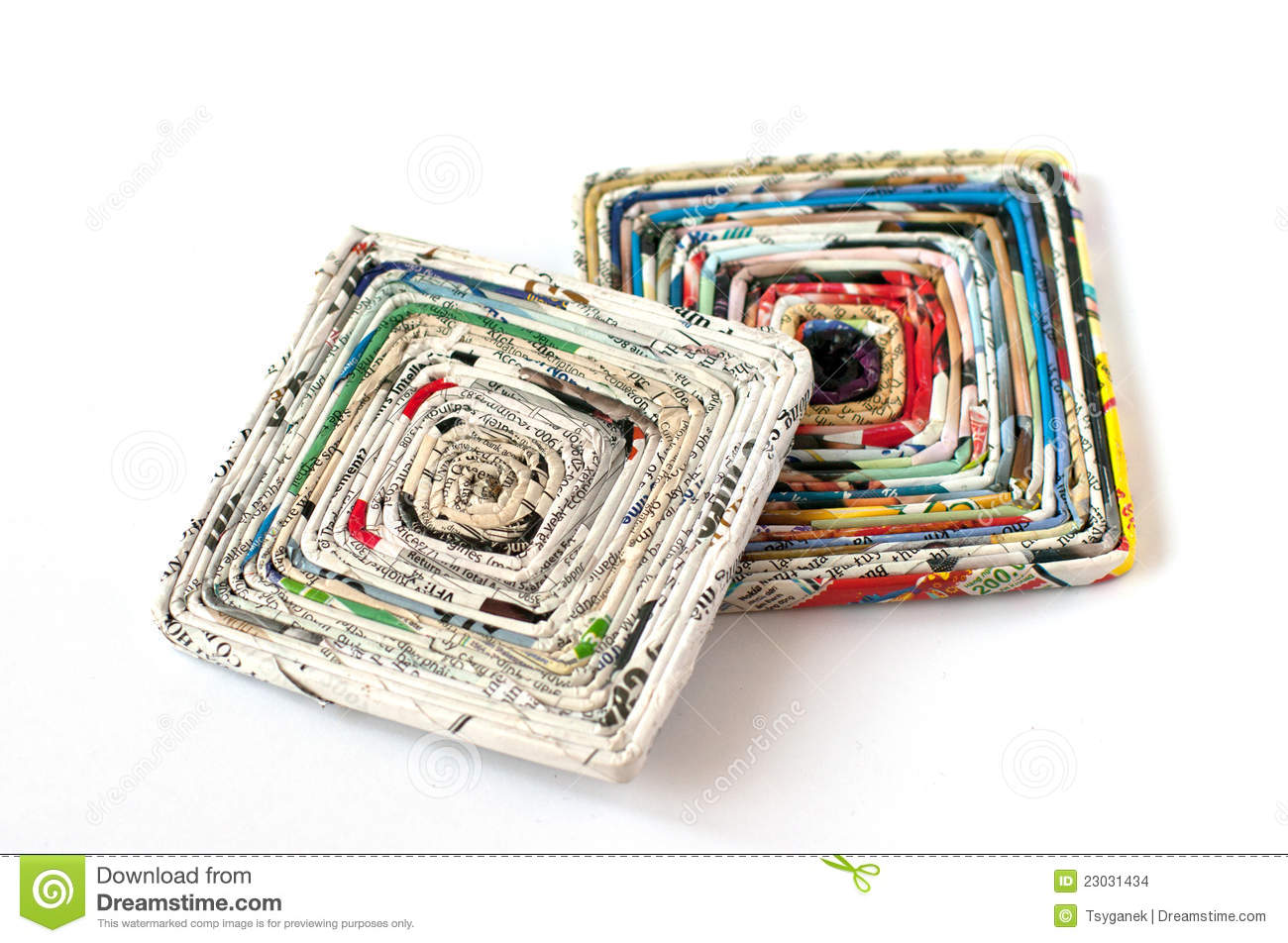 Paper Coasters Made Of Old Magazines Stock Photo Image Of Glossy - Coasters made from photos