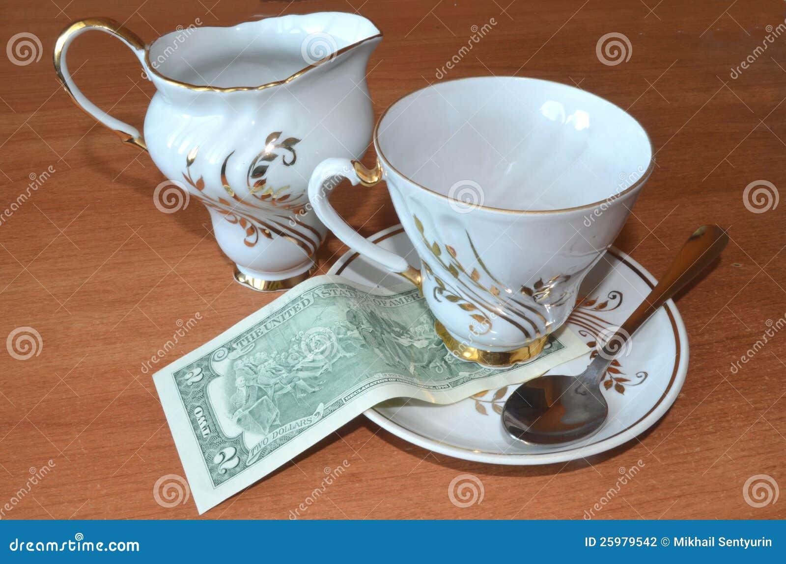 $ 2 para o chá