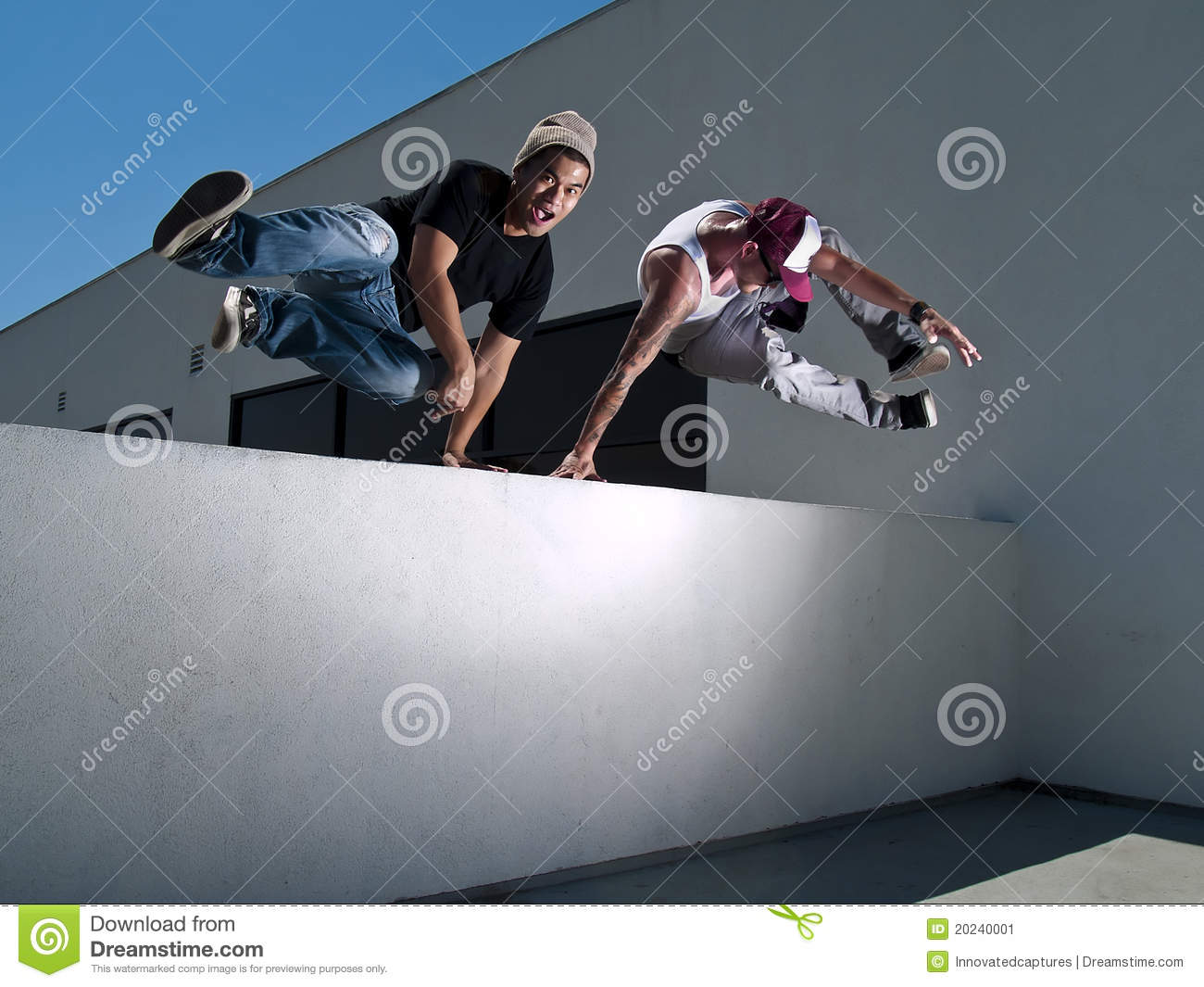 2 Parkour Freerunners