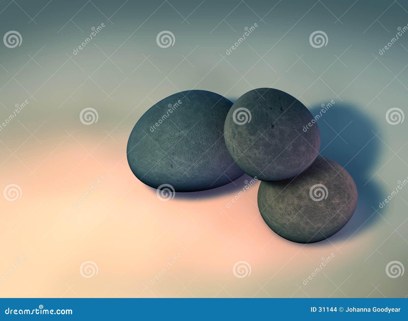 2 pebbles