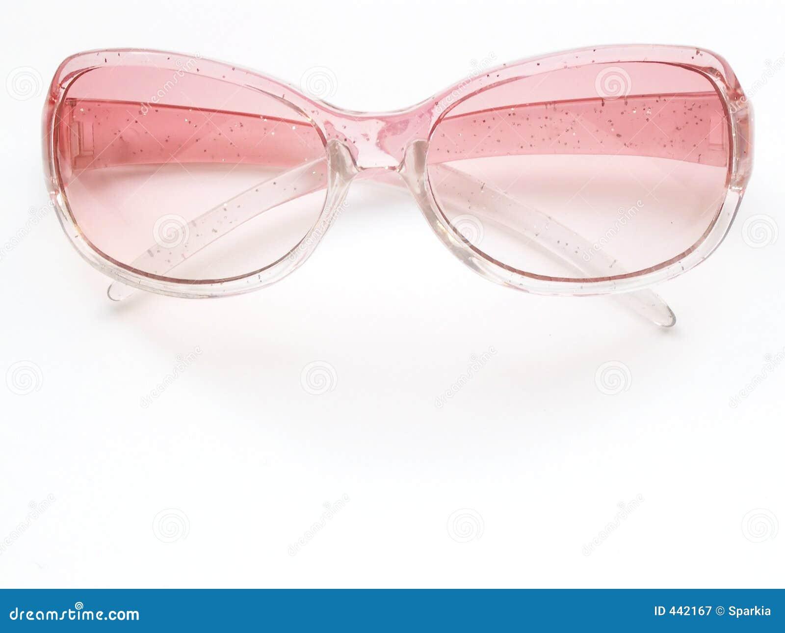 2 rosa solglasögon fotografering för bildbyråer. Bild av