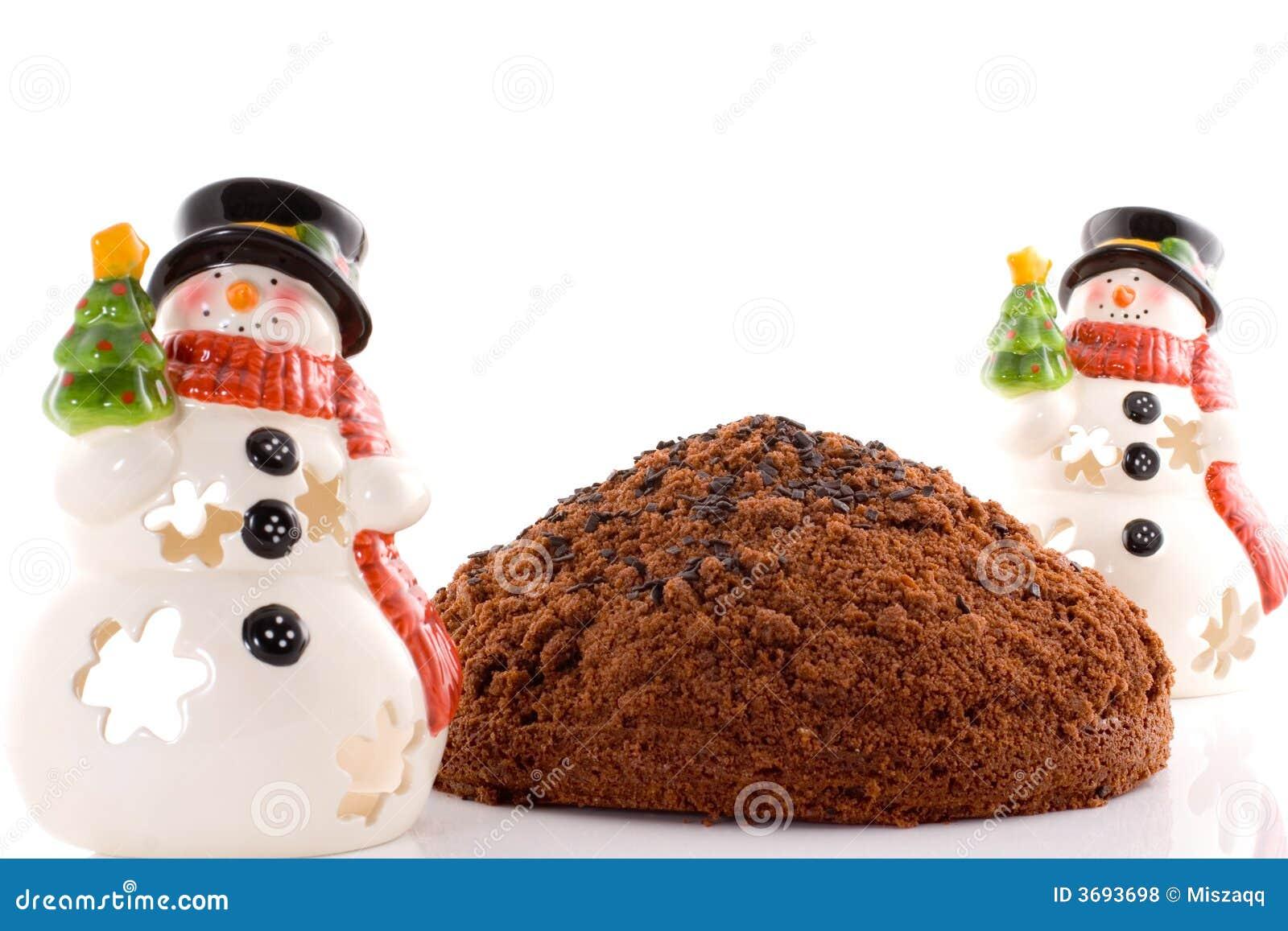 2 snowmans торта предпосылки белого