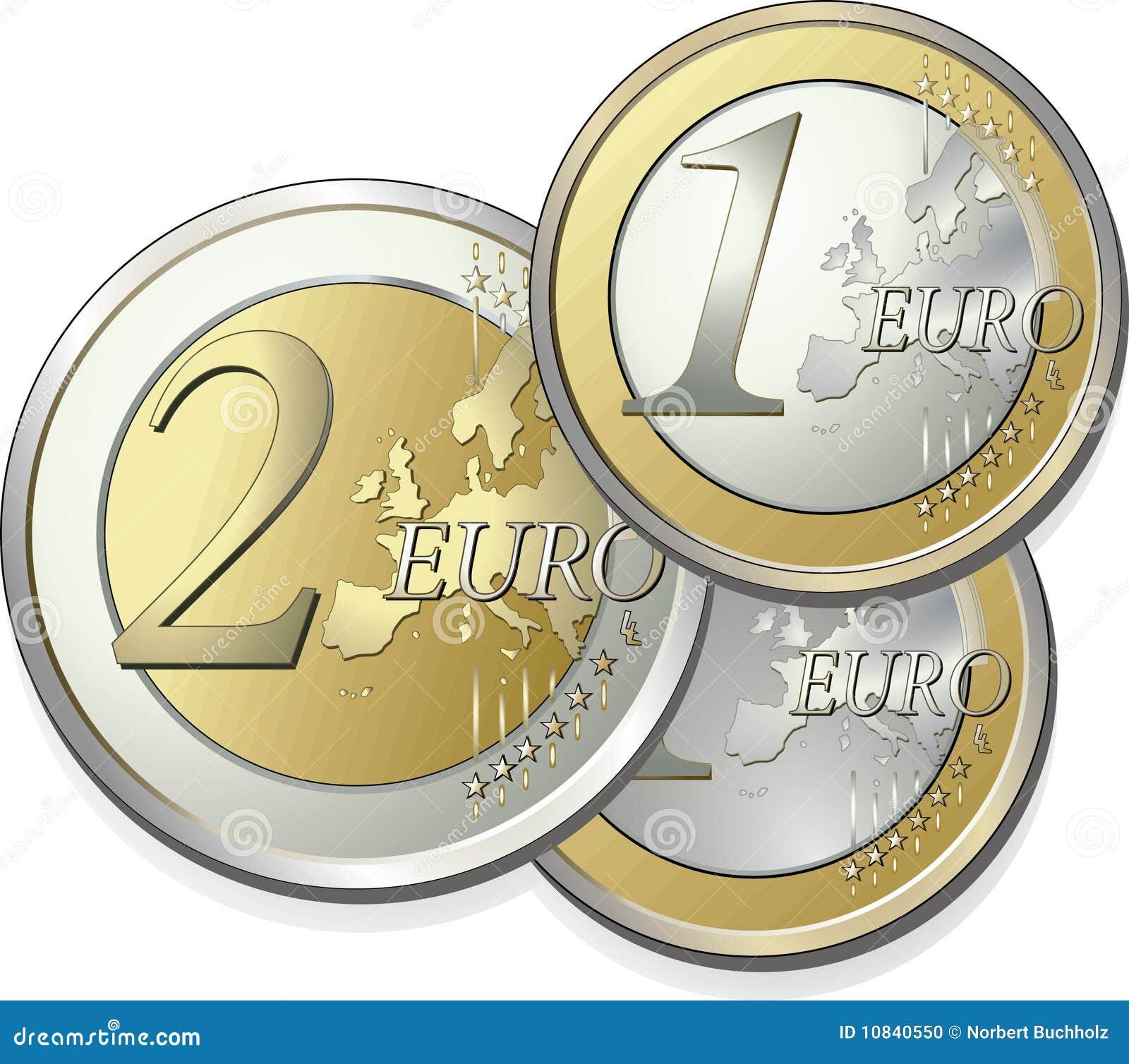 2 Teile Euro