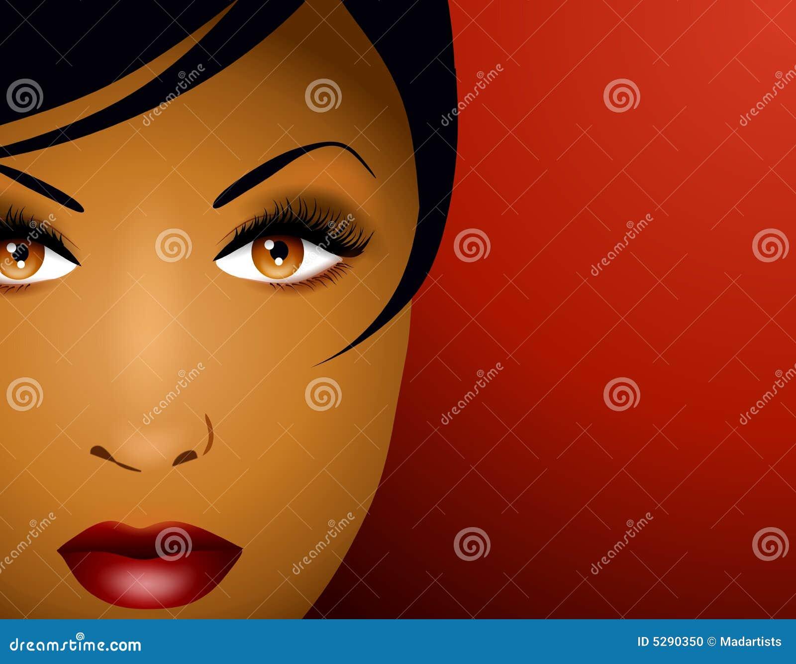 2 twarz pięknej kobiety