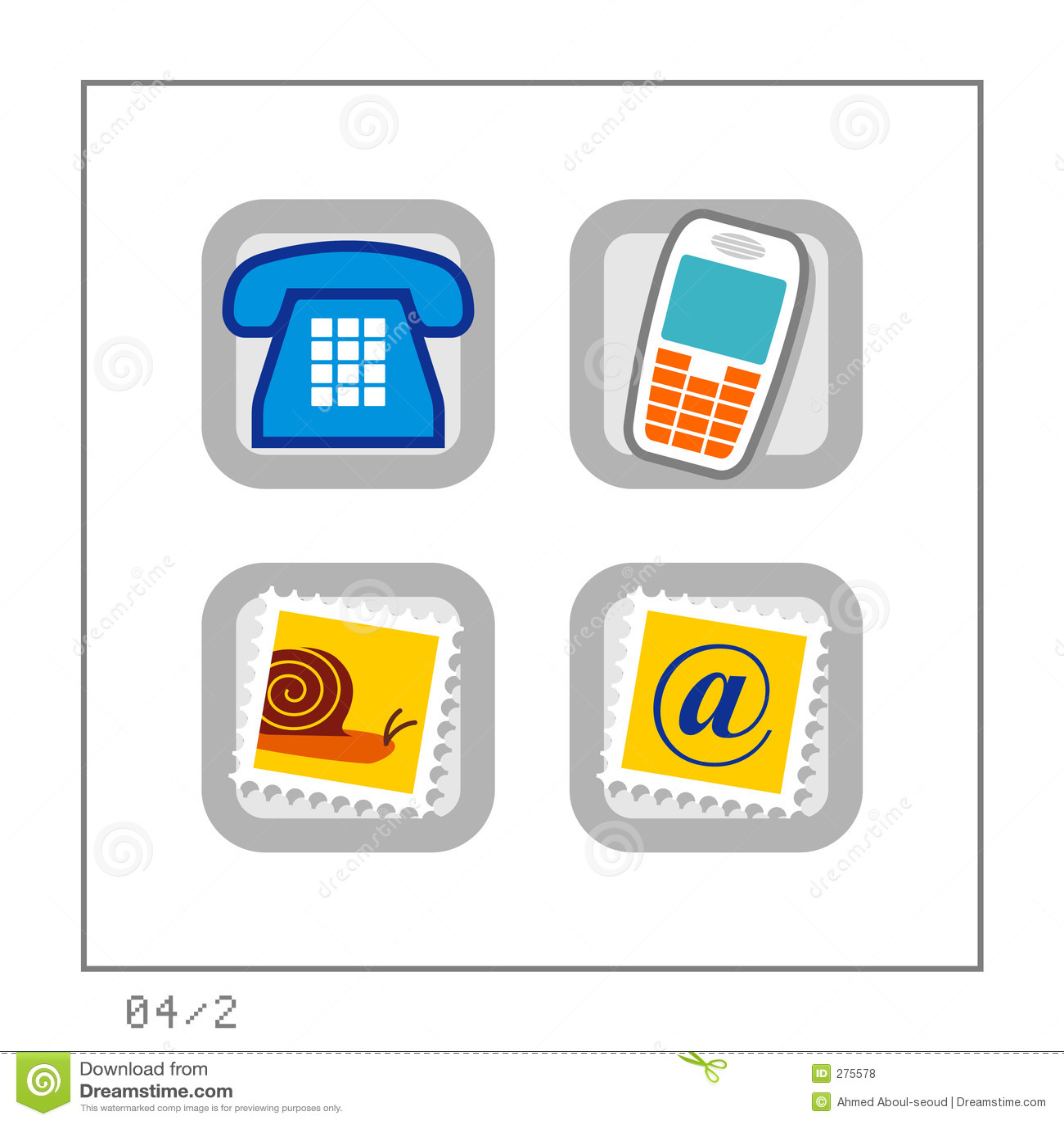 2 version för symbol för 04 kommunikation set