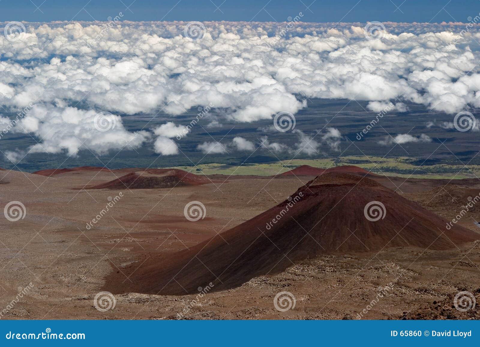 2 vulkaniska kottar