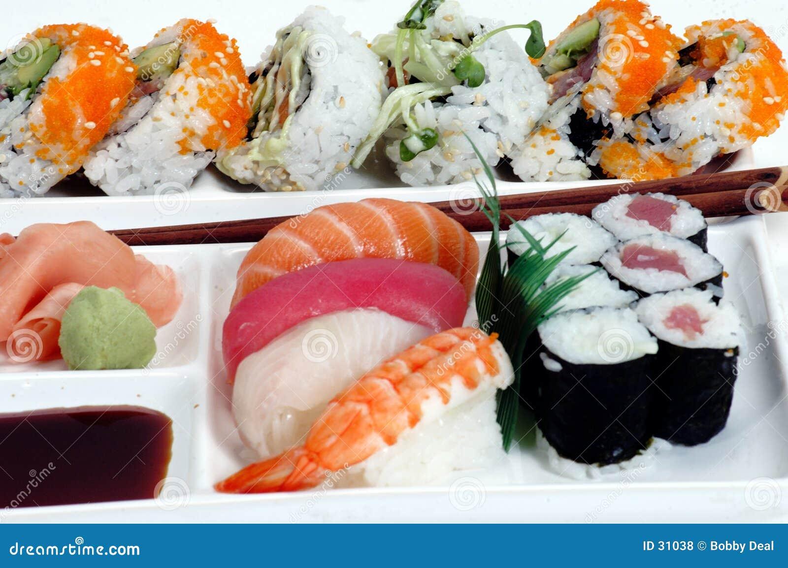 2 walcowane sushi