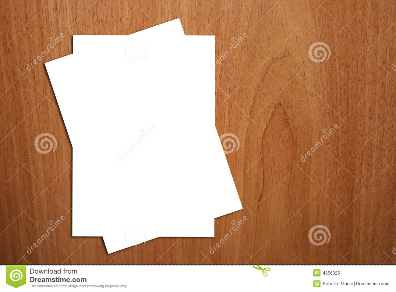 2 White A4 Page On Wood Background