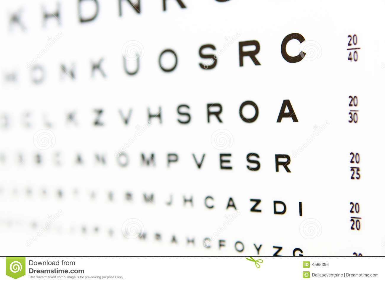 2020 Eye Chart Test A In Focus Stock Photo Image Of Medical