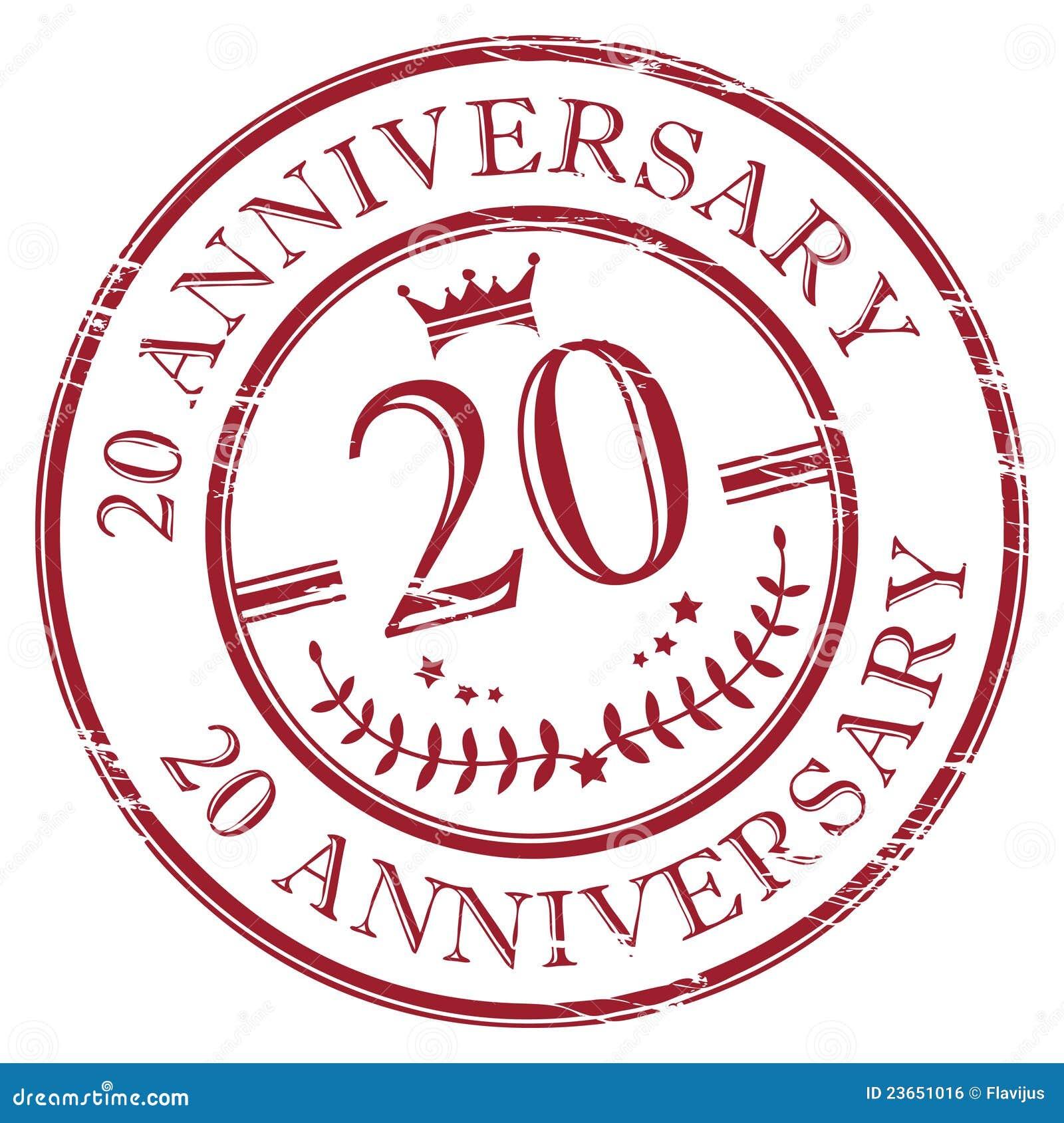 20 Anniversary Royalty Free Stock Image - Image: 23651016