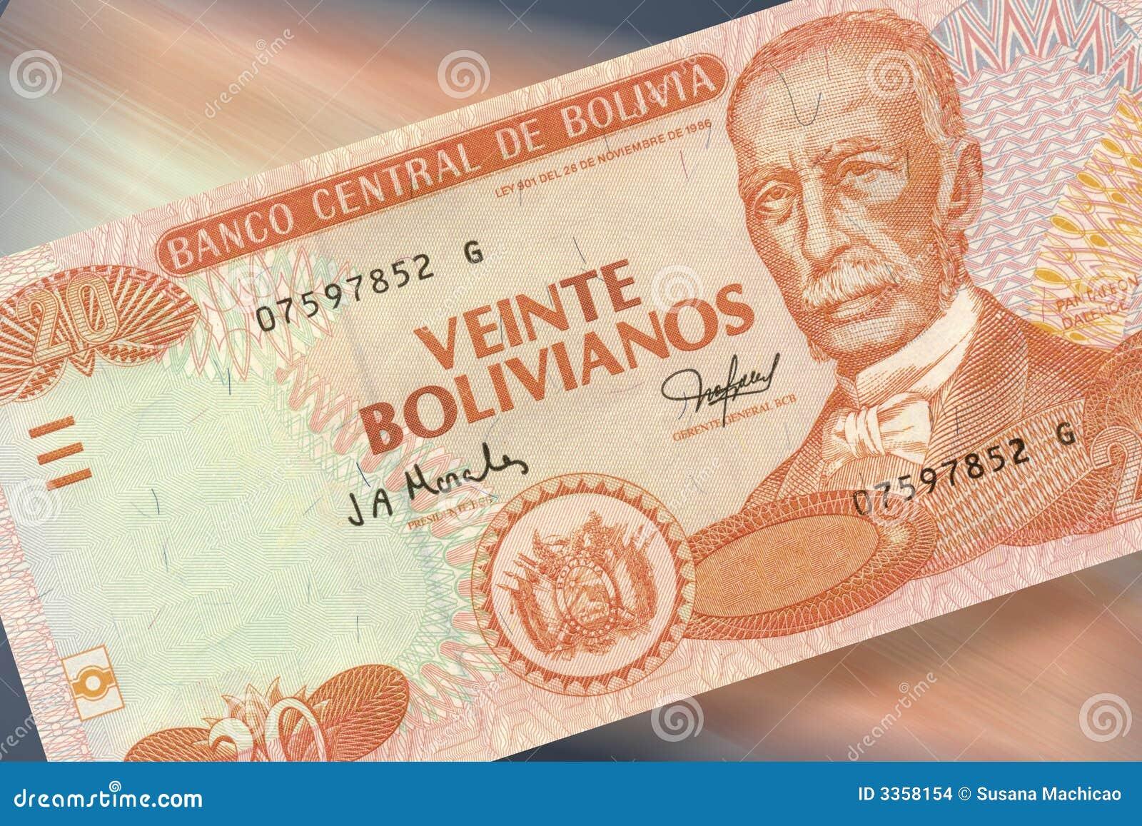 20 bolivianos de pesos