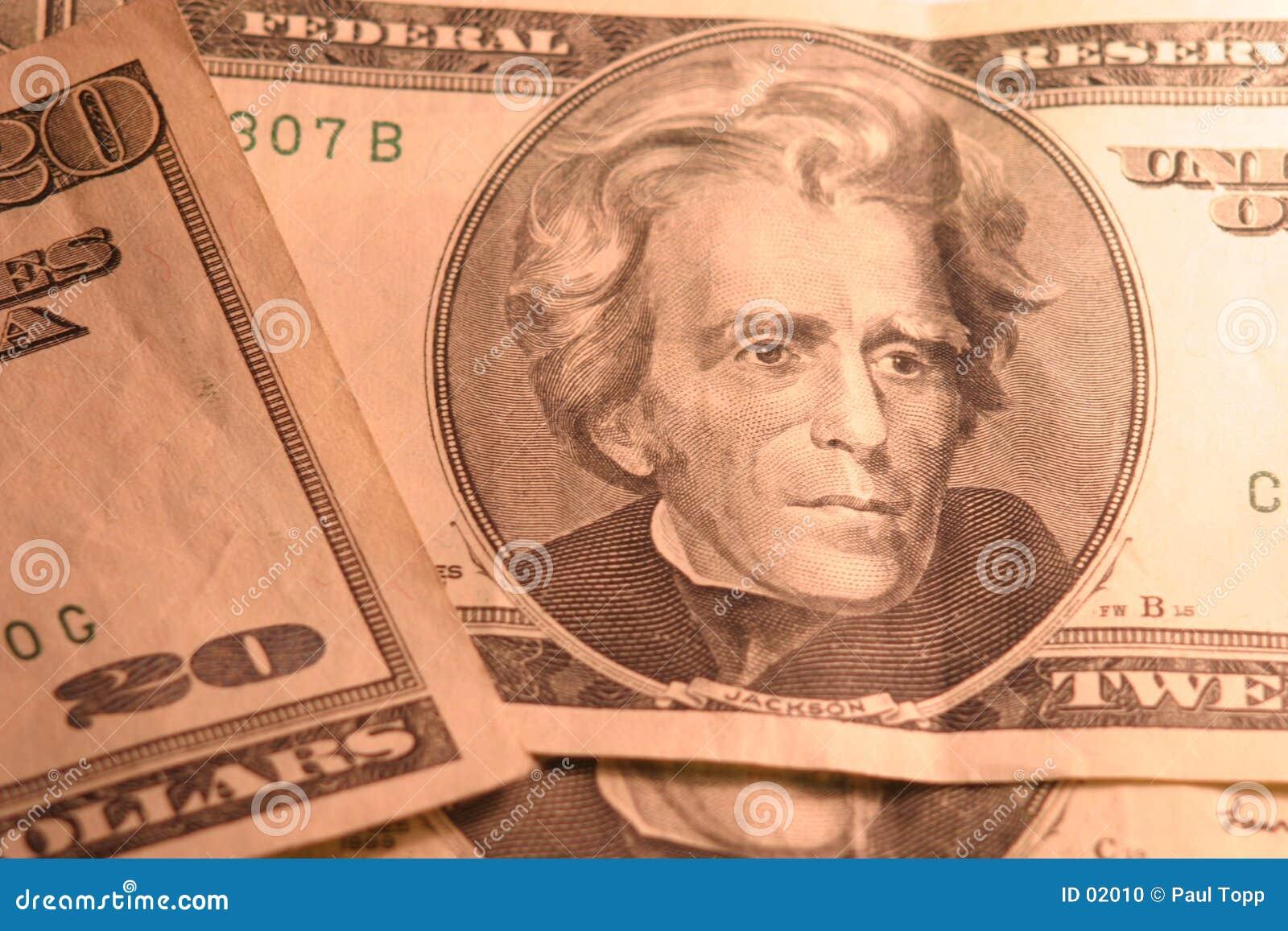 20 contas de dólar