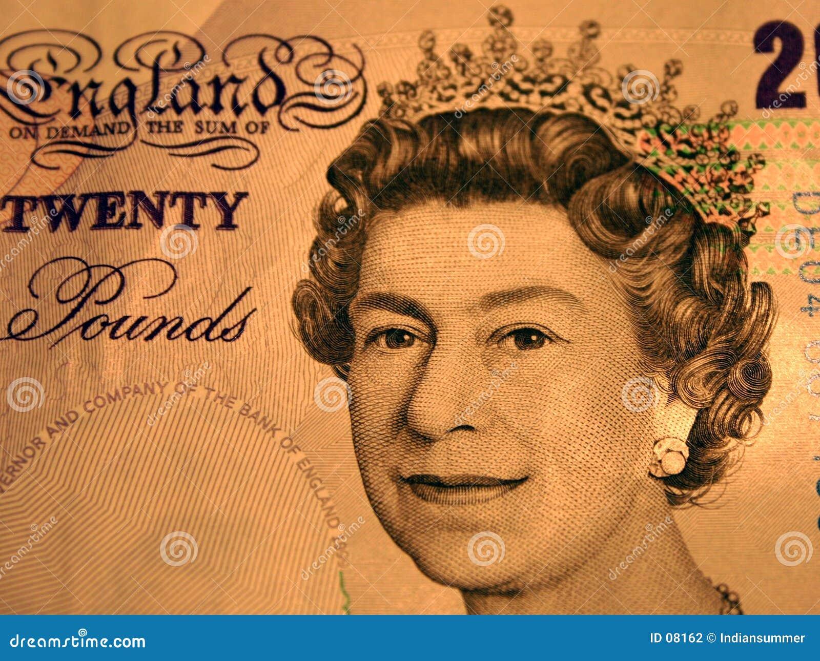 20 libras. Retrato de la reina