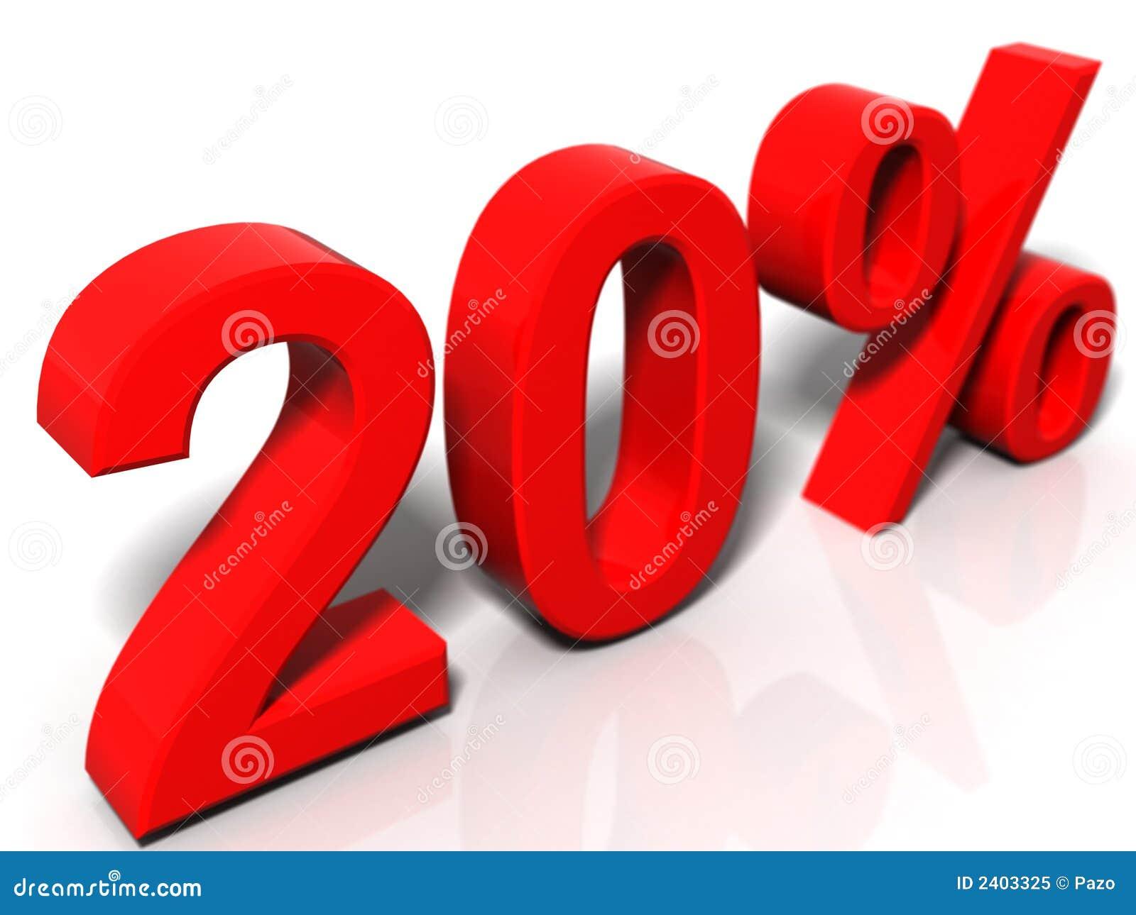 20 pour cent illustration stock illustration du promotion 2403325. Black Bedroom Furniture Sets. Home Design Ideas