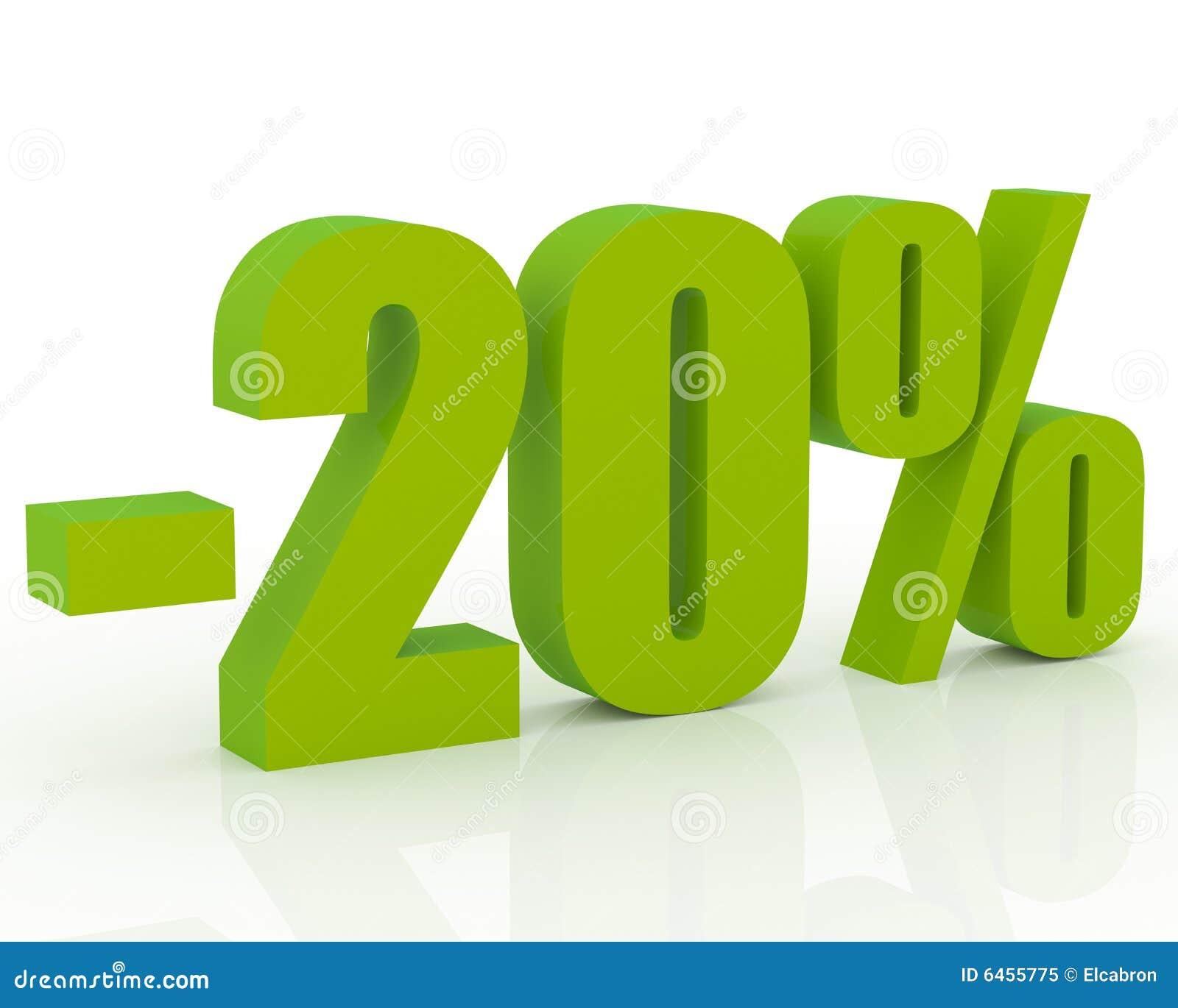 20 rabatt stock abbildung bild von getrennt abzug for Bodendirect 20 rabatt