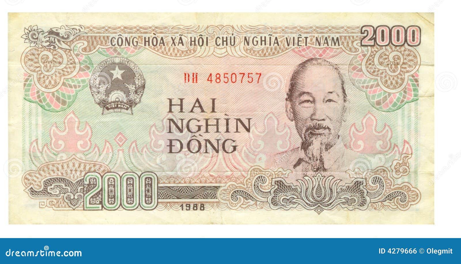2000 cuentas del dong de Vietnam, 1988