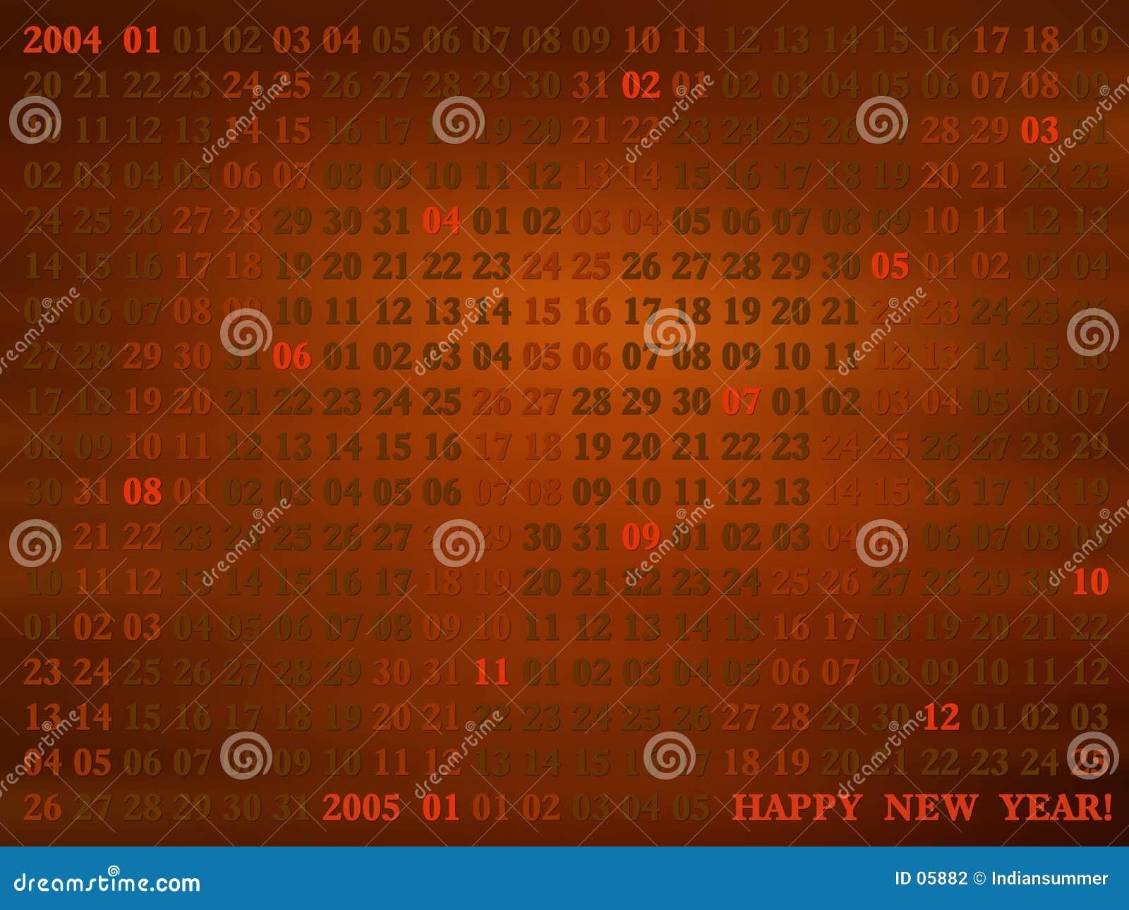 2004 años. calendario artístico