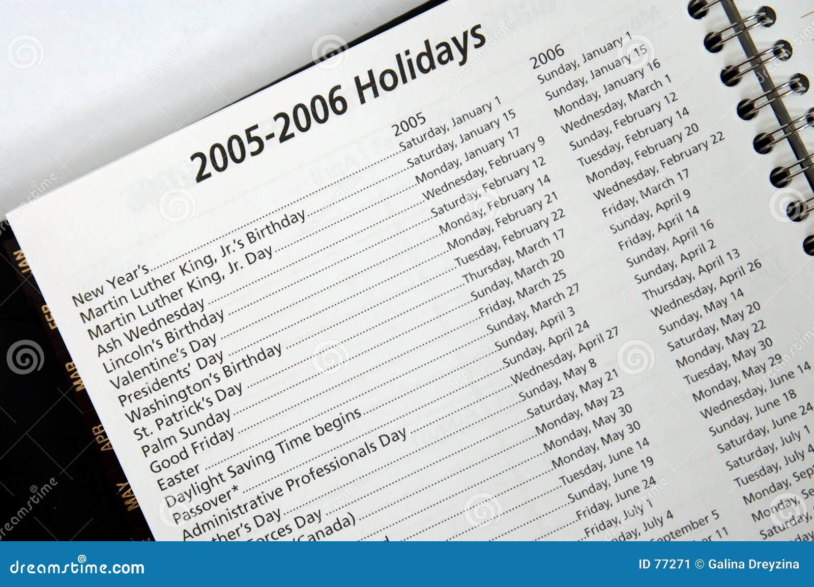 2005-2006 Feiertage