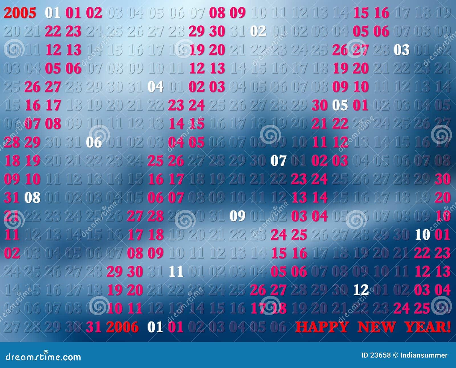 2005 anni di calendario artistico