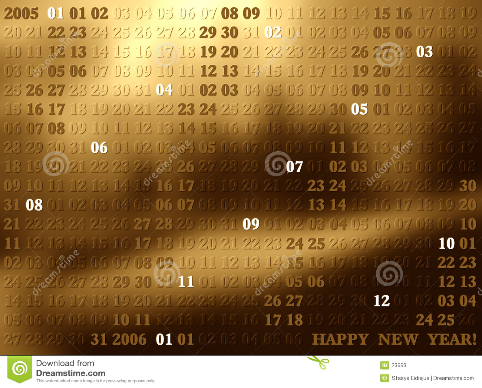 2005 anni di calendario artistico II