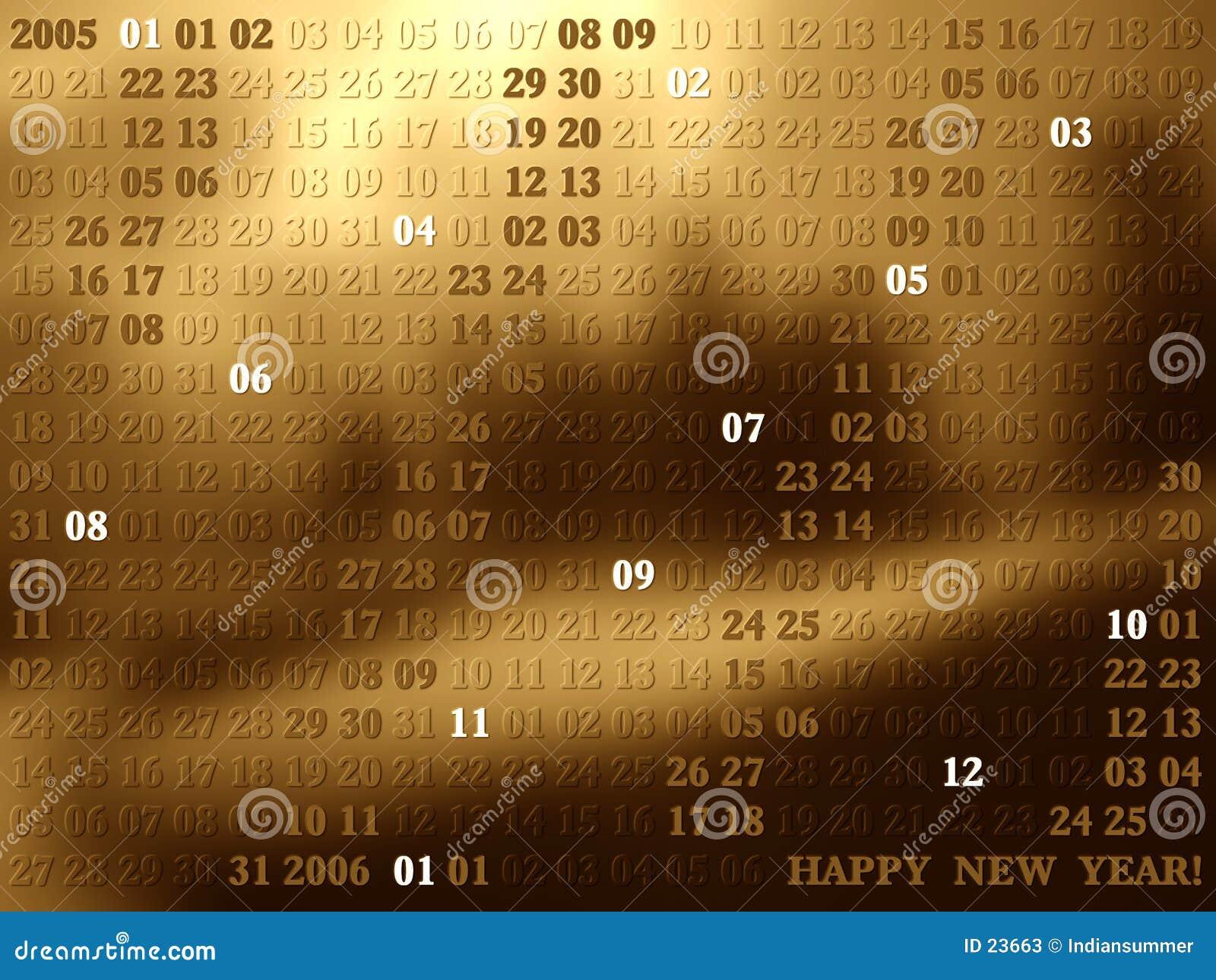 2005 anos de calendário artístico II