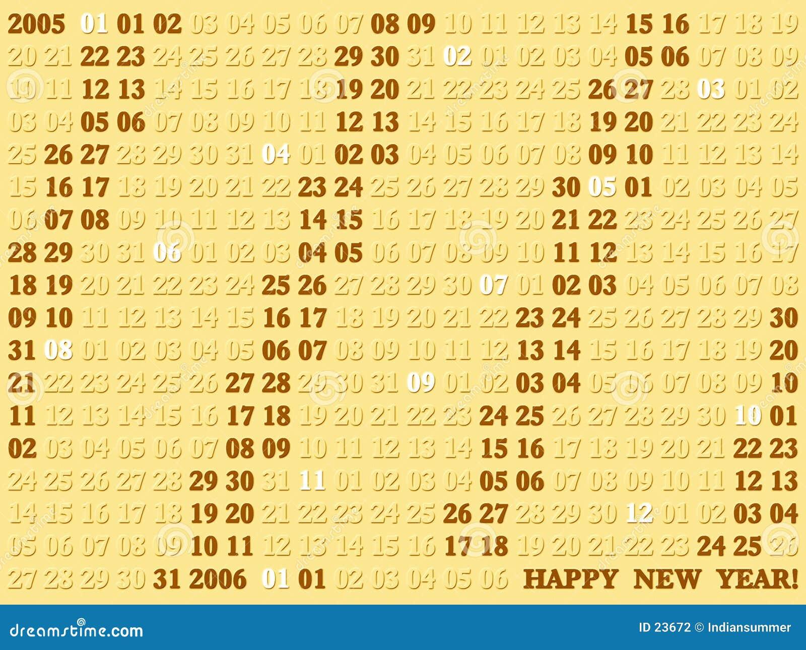 2005 ans de calendrier artistique IV