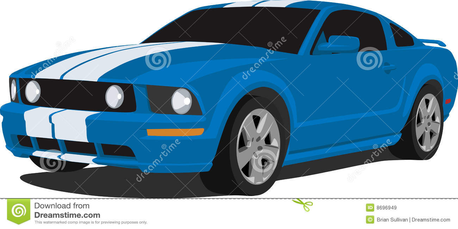 2005 Ford Mustang Gt Stock Vector Illustration Of Modern 8696949