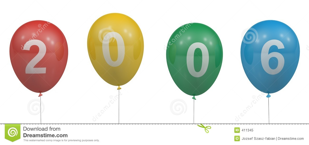 Balloons of 2006 royalty free illustration